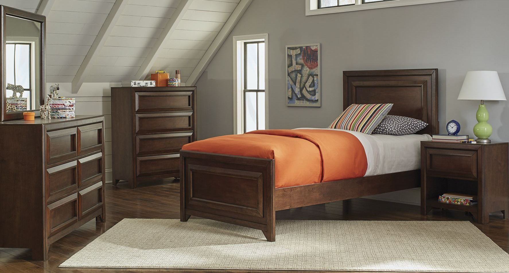 youth bedroom furniture greenough maple oak youth panel bedroom set from coaster 13894