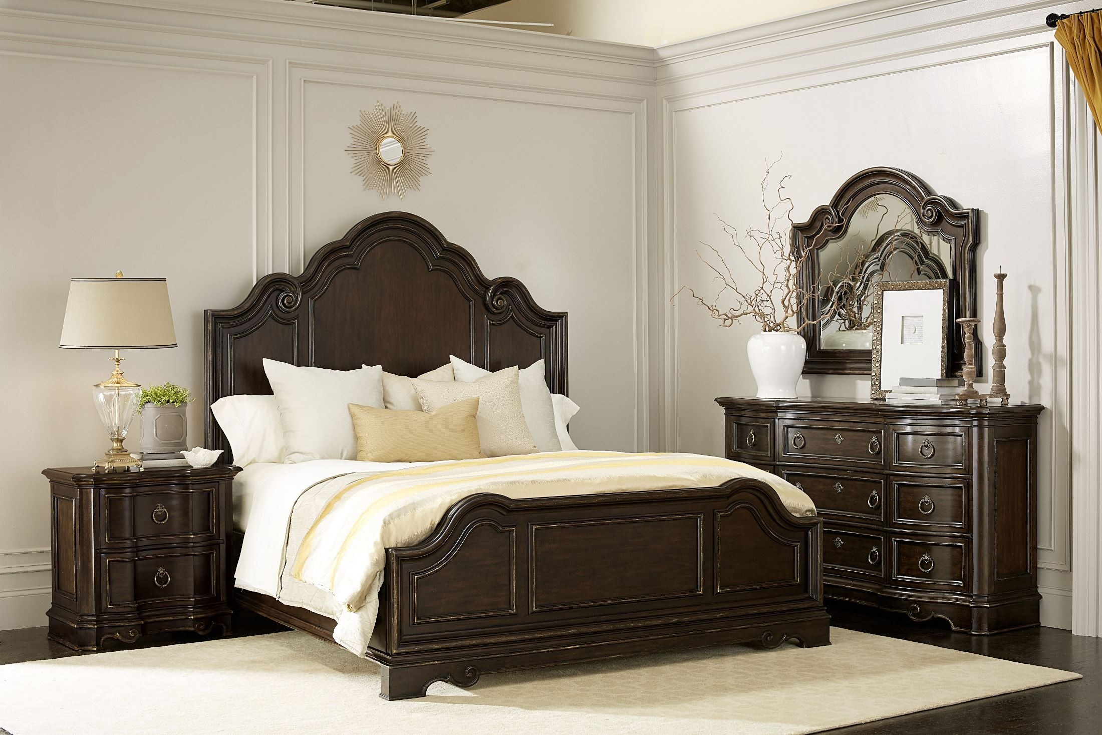 bella malbec panel bedroom set from art coleman furniture