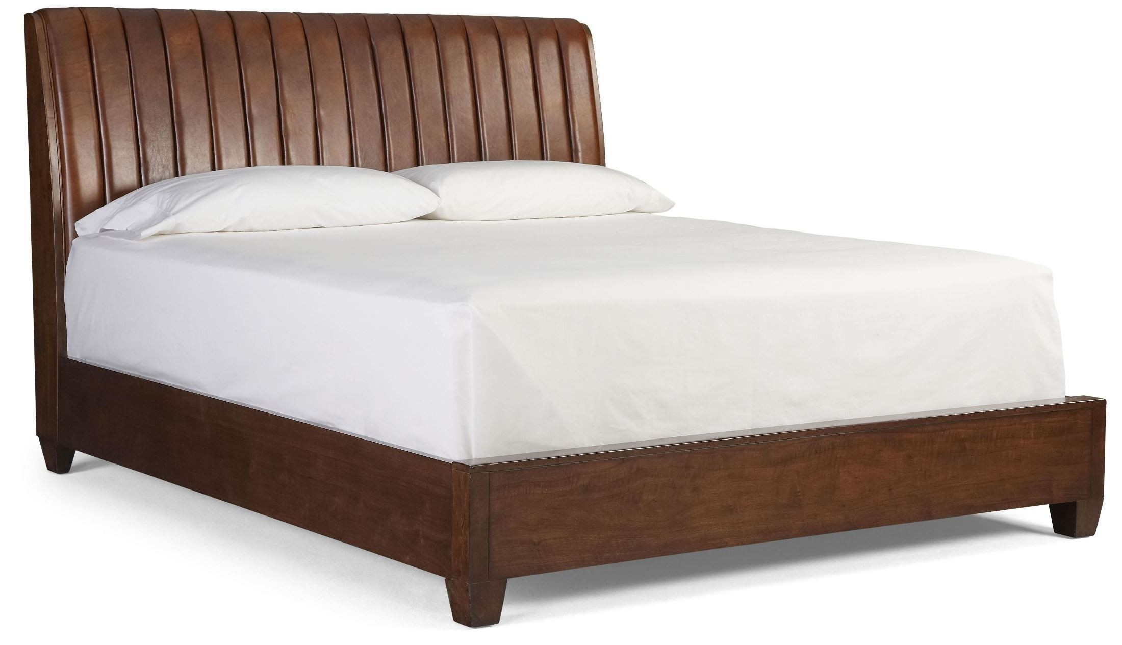 Roma Walnut Contemporary Bed: Modern Harmony Burnished Walnut King Platform Bed From