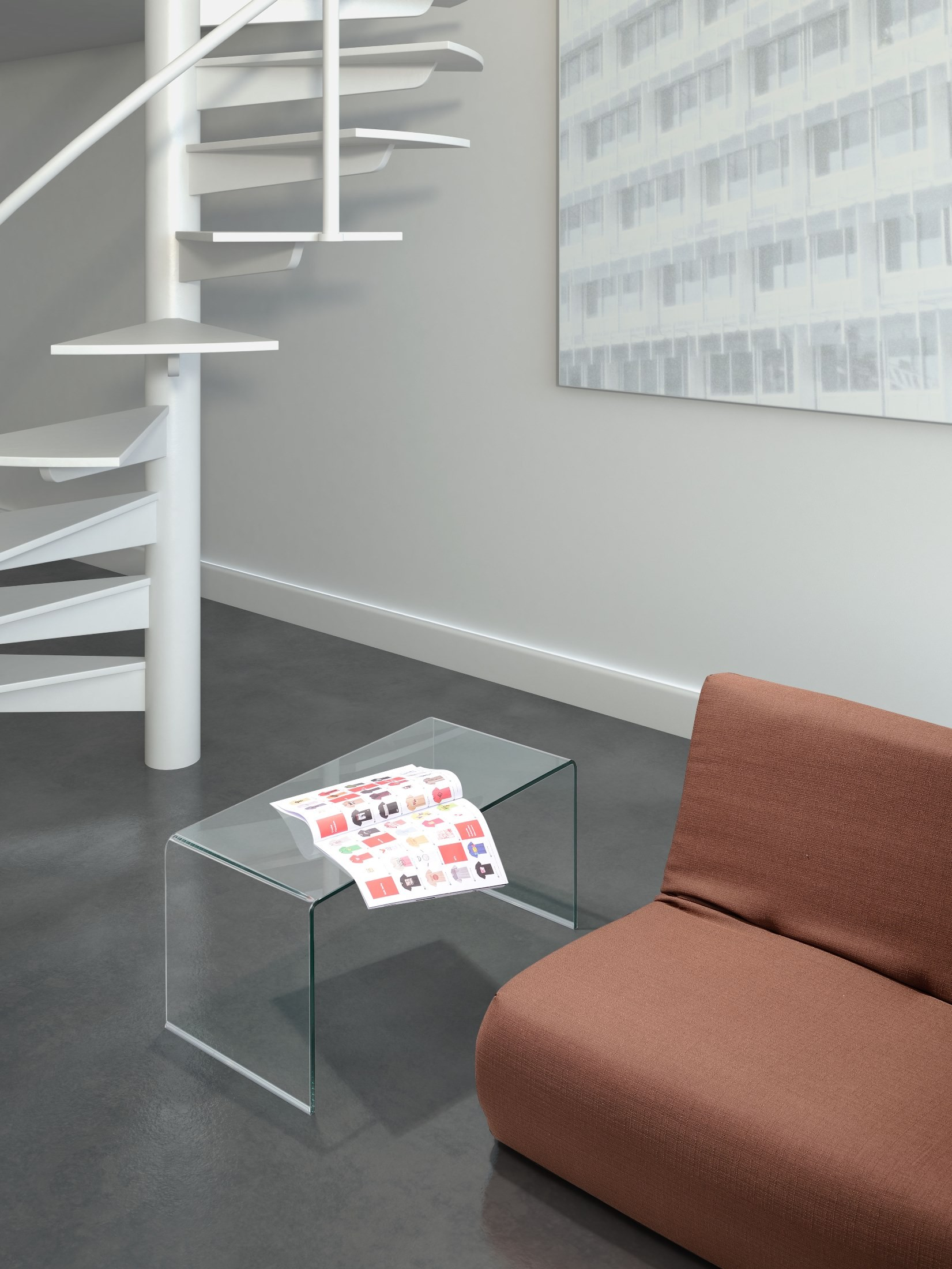 Course Clear Glass Coffee Table From Zuo Mod 404084
