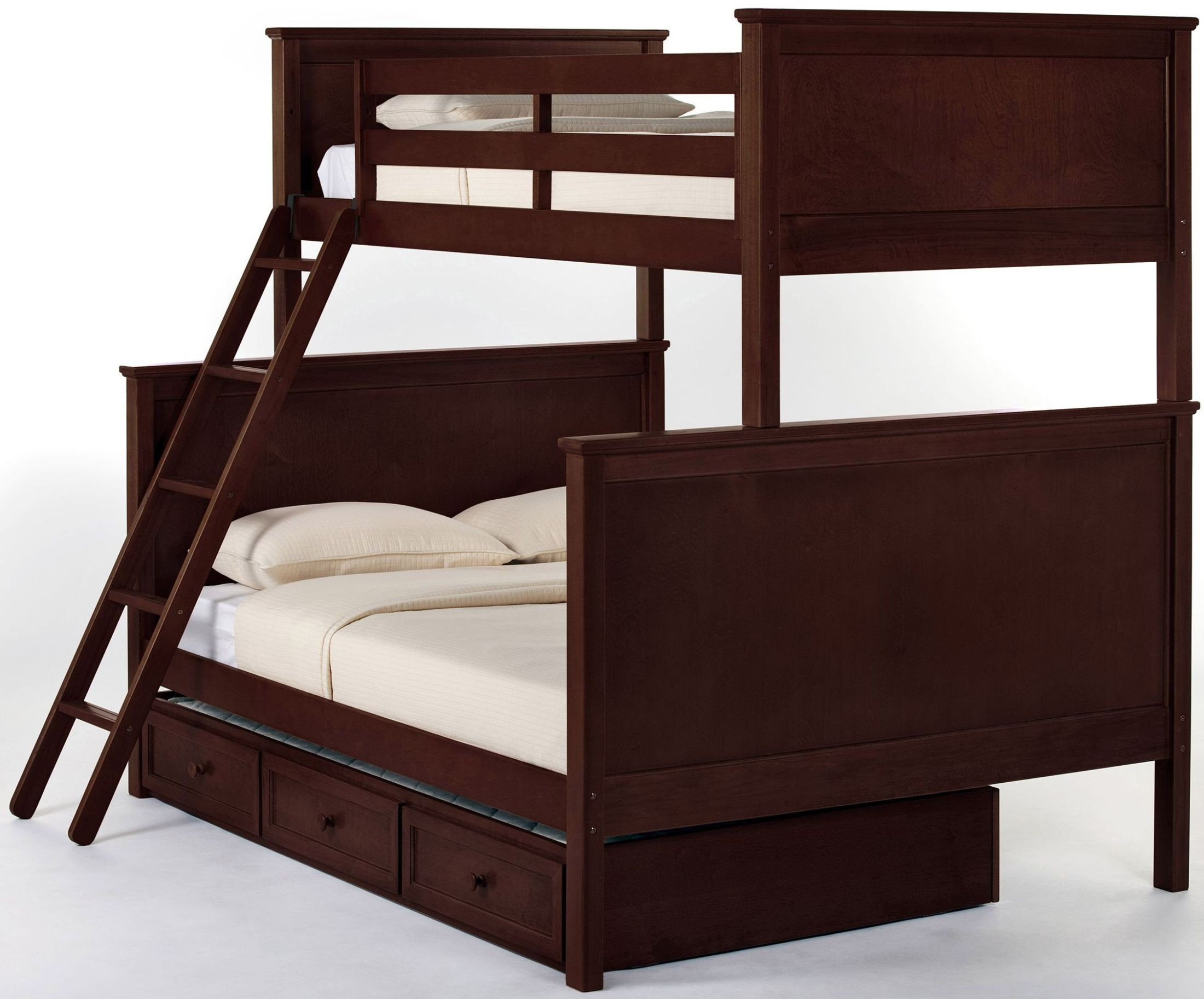 school house cherry twin over full bunk bed with trundle from ne kids coleman furniture. Black Bedroom Furniture Sets. Home Design Ideas