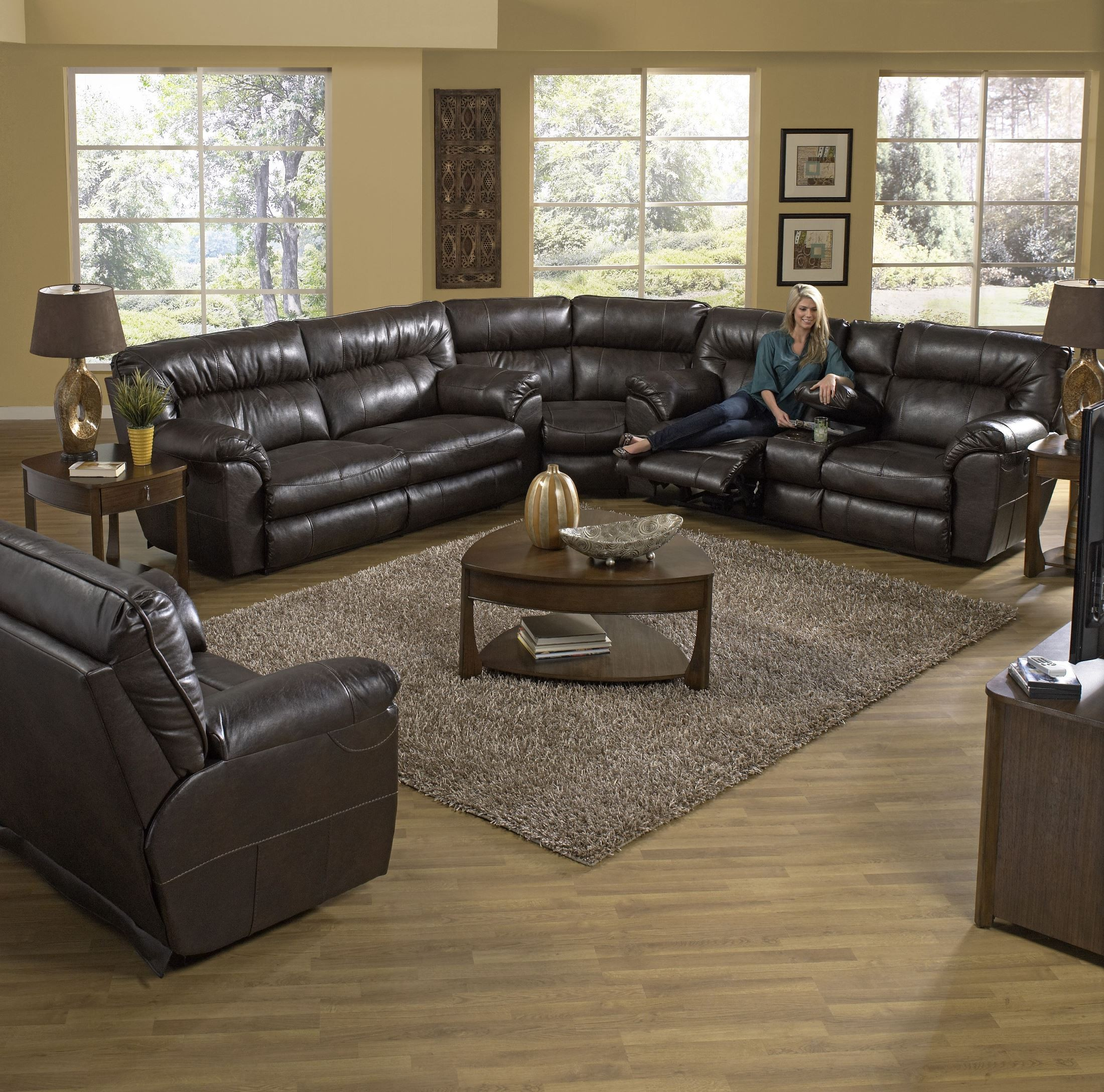 Nolan Godiva Reclining Sectional From Catnapper Coleman Furniture