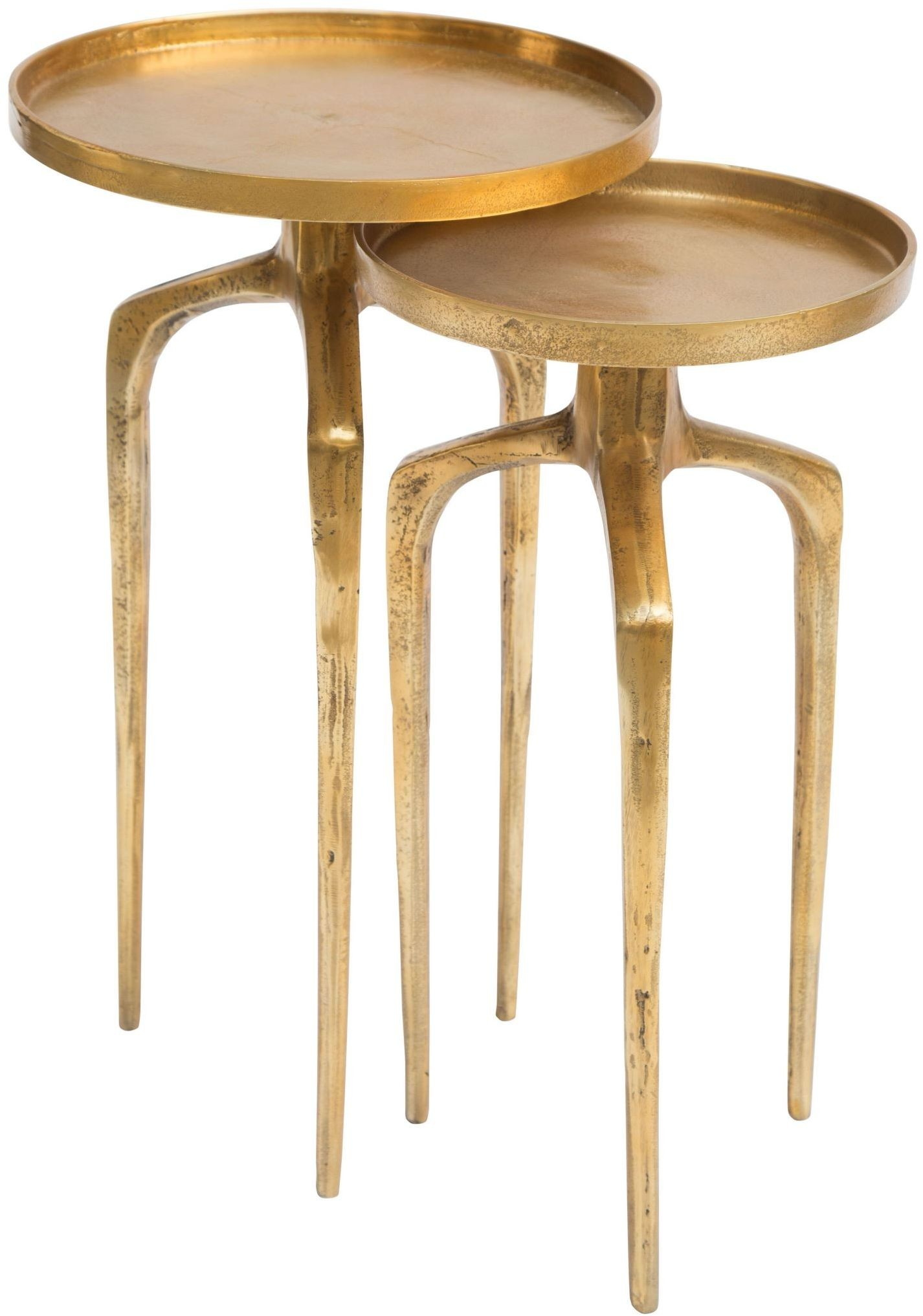Como Antique Gold Accent Table From Zuo Coleman Furniture