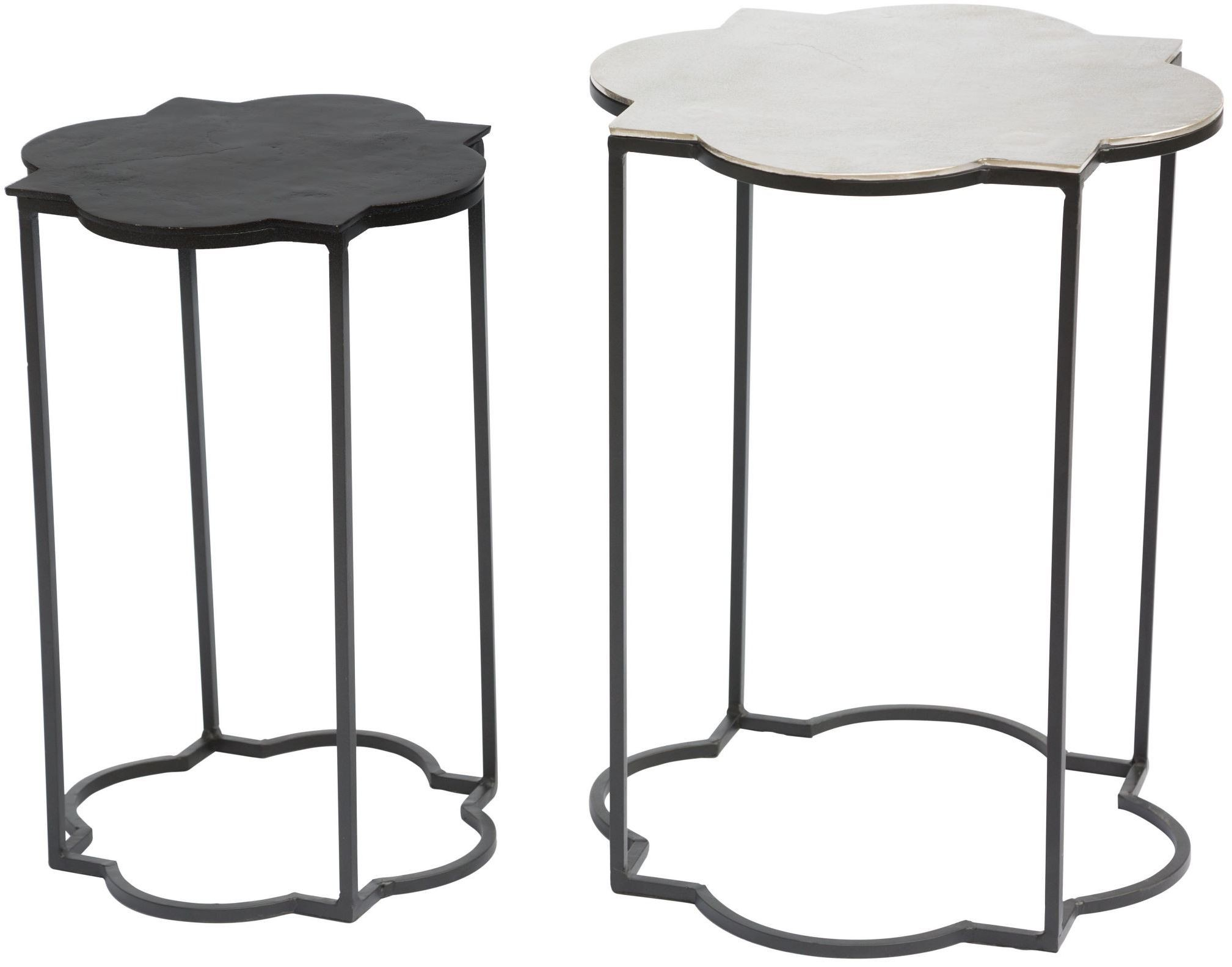 brighton black and white accent table