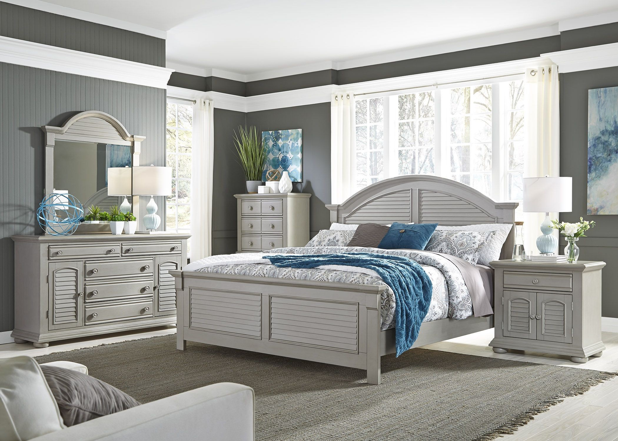 Summer House Ii Gray Panel Bedroom Set From Liberty Coleman Furniture