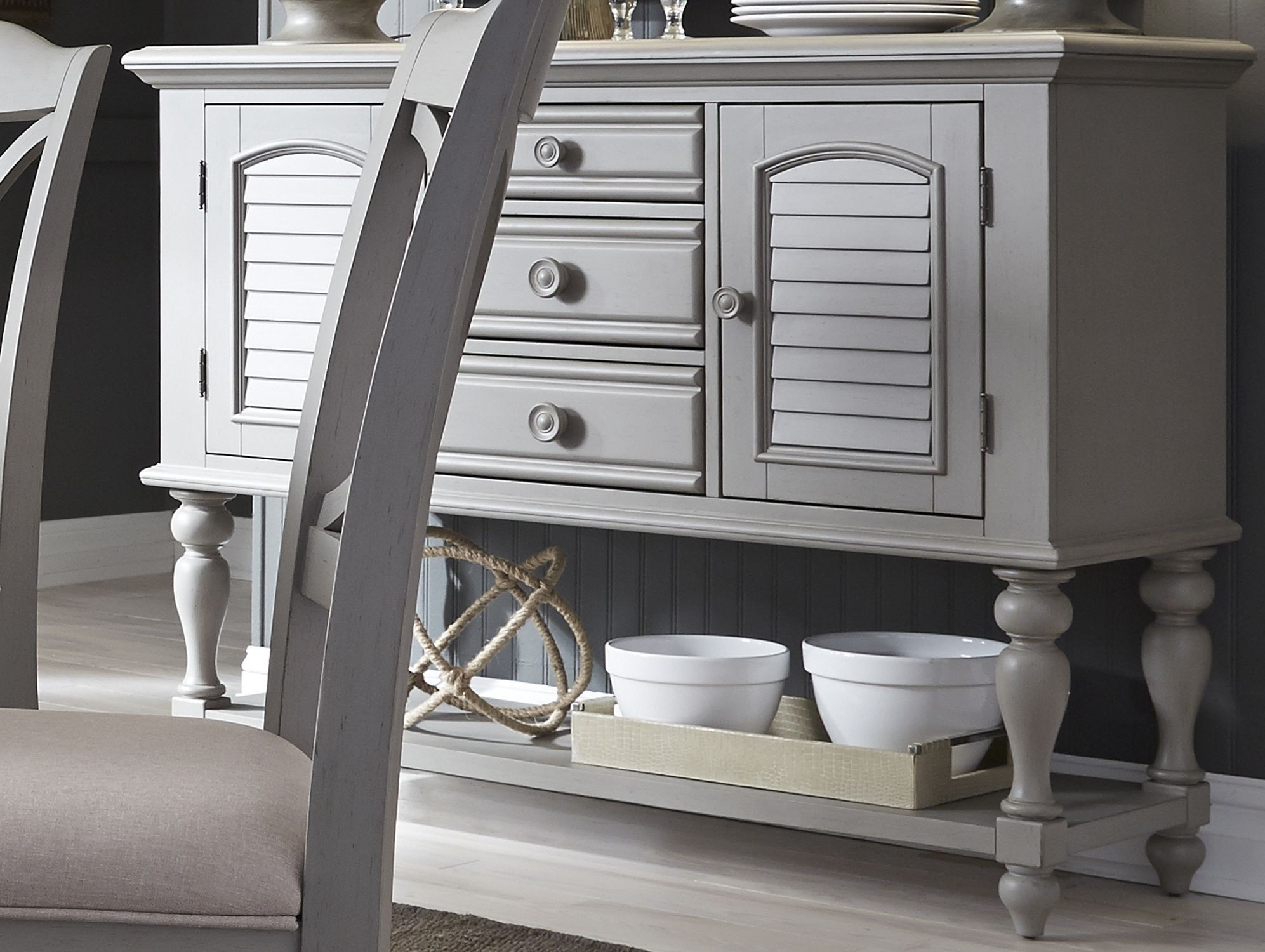 Summer House Dove Grey Server From Liberty Coleman Furniture