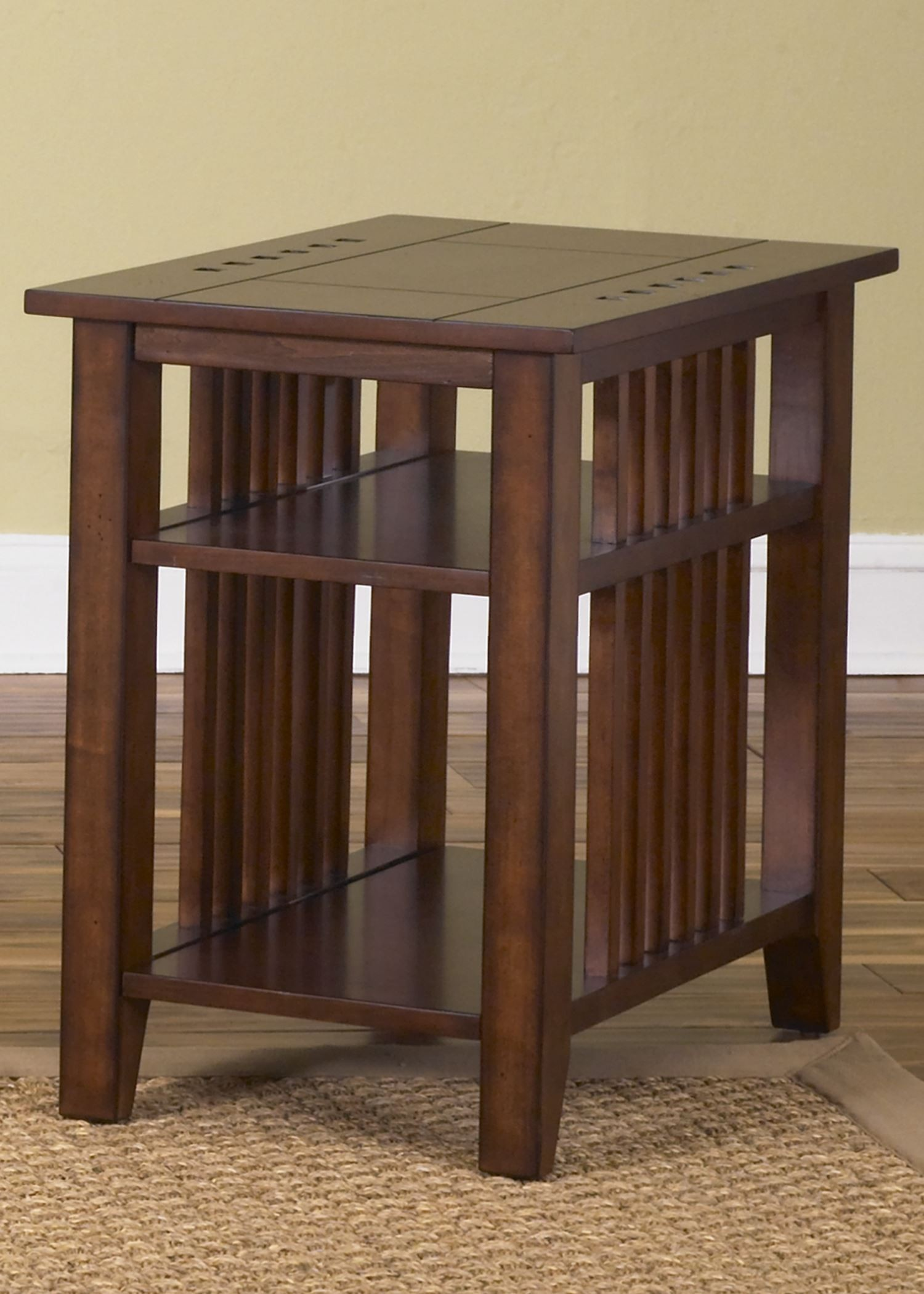 Prairie Hills Satin Cherry Chair Side Table From Liberty