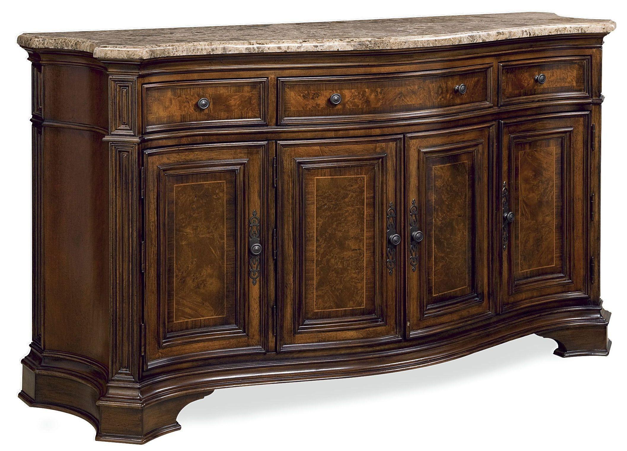 Villa Cortina Bedroom Furniture: Villa Cortina Marble Top Storage Credenza From Universal