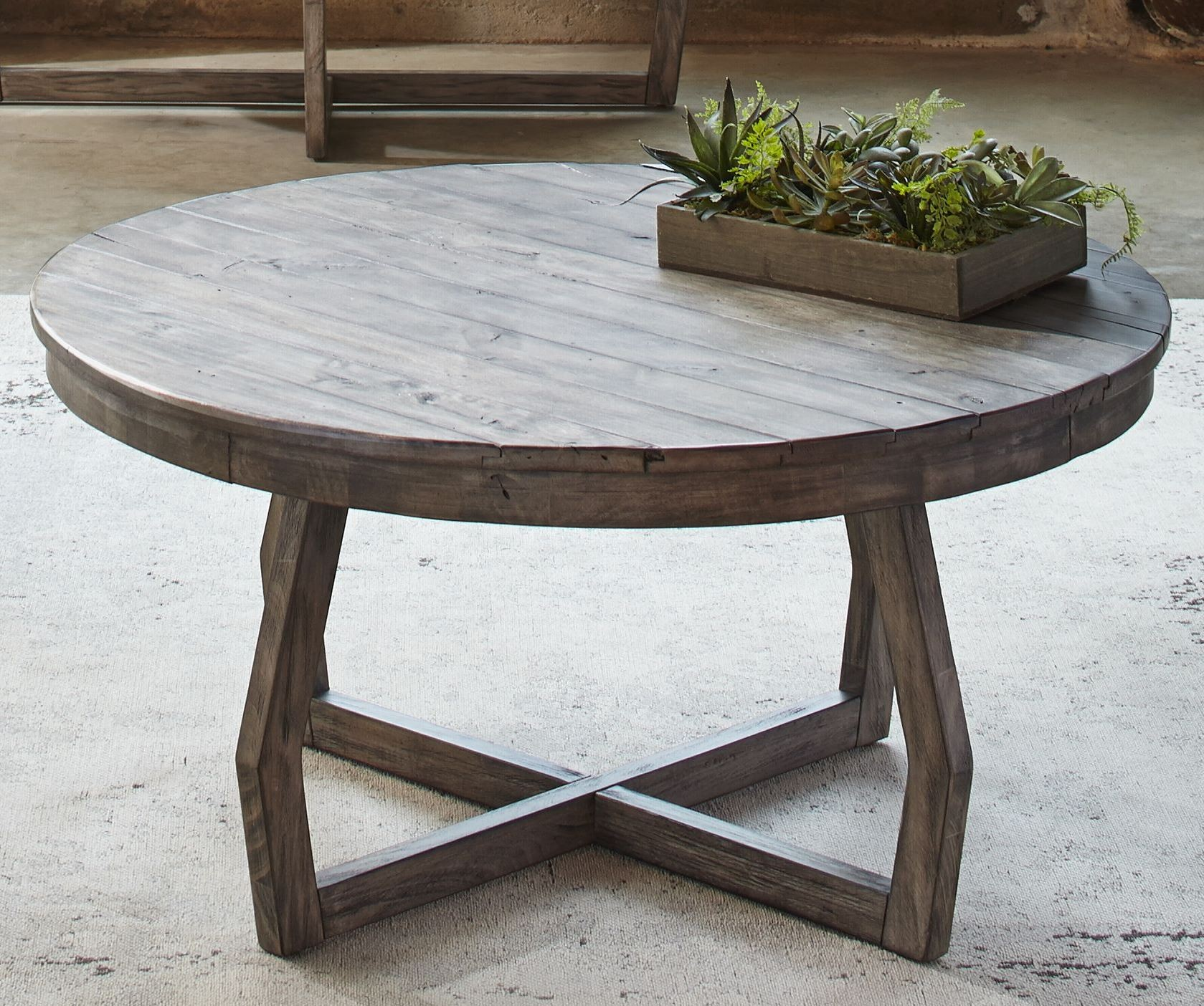 Hayden Way Gray Wash Cocktail Table 41 OT1010 Liberty