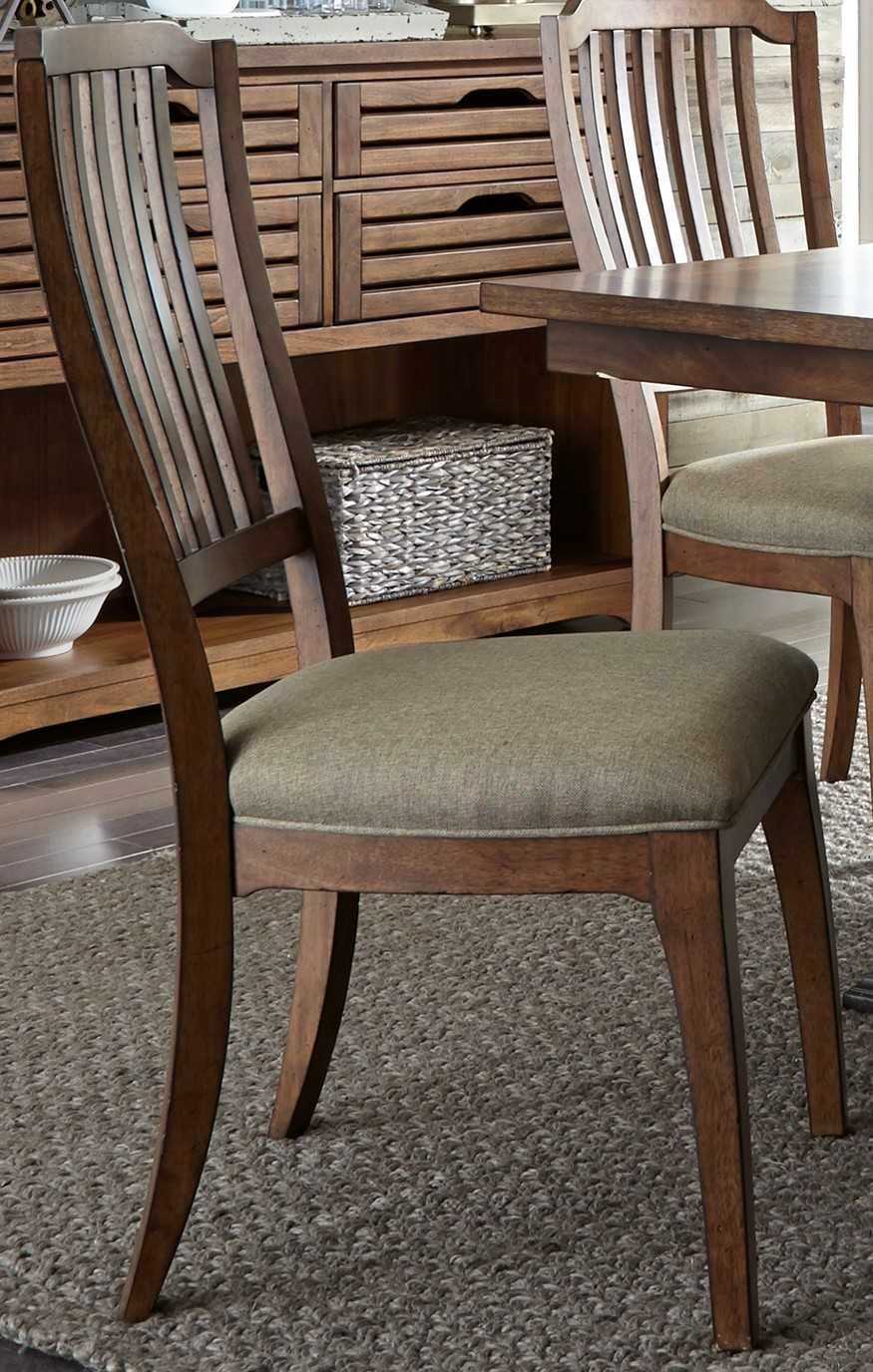 Arlington House Cobblestone Brown Spindle Back Side Chair
