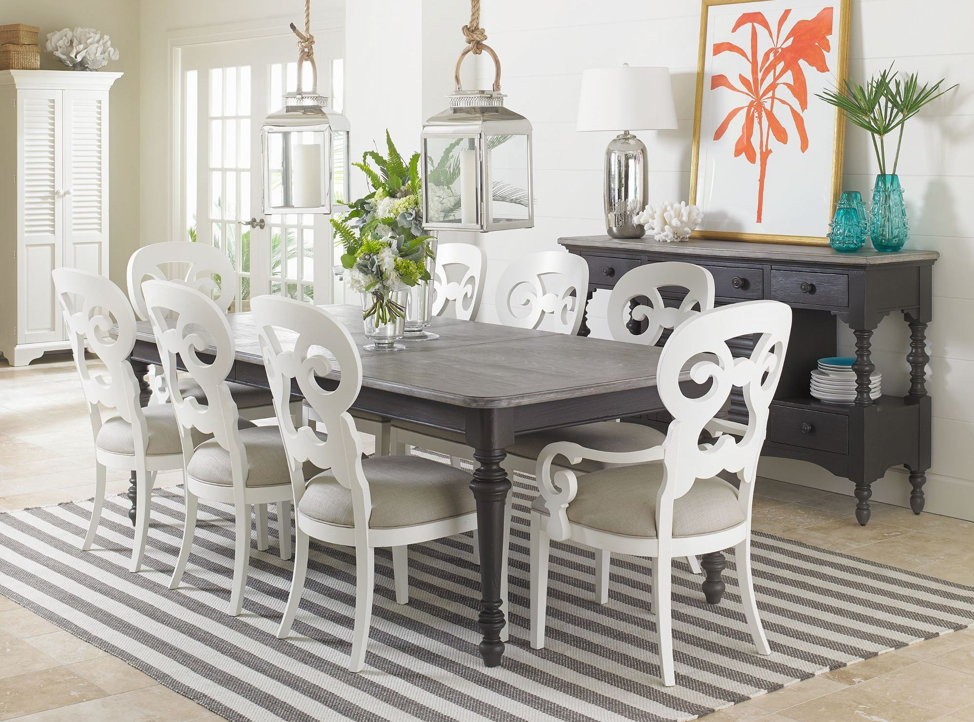 Coastal Living Dining Table: Coastal Living Saltbox White Rectangular Leg Dining Table