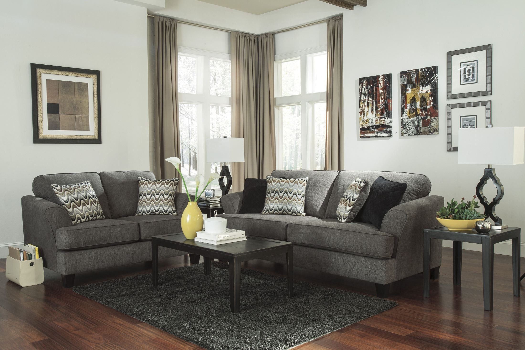Gayler Steel Living Room Set from Ashley 38 35