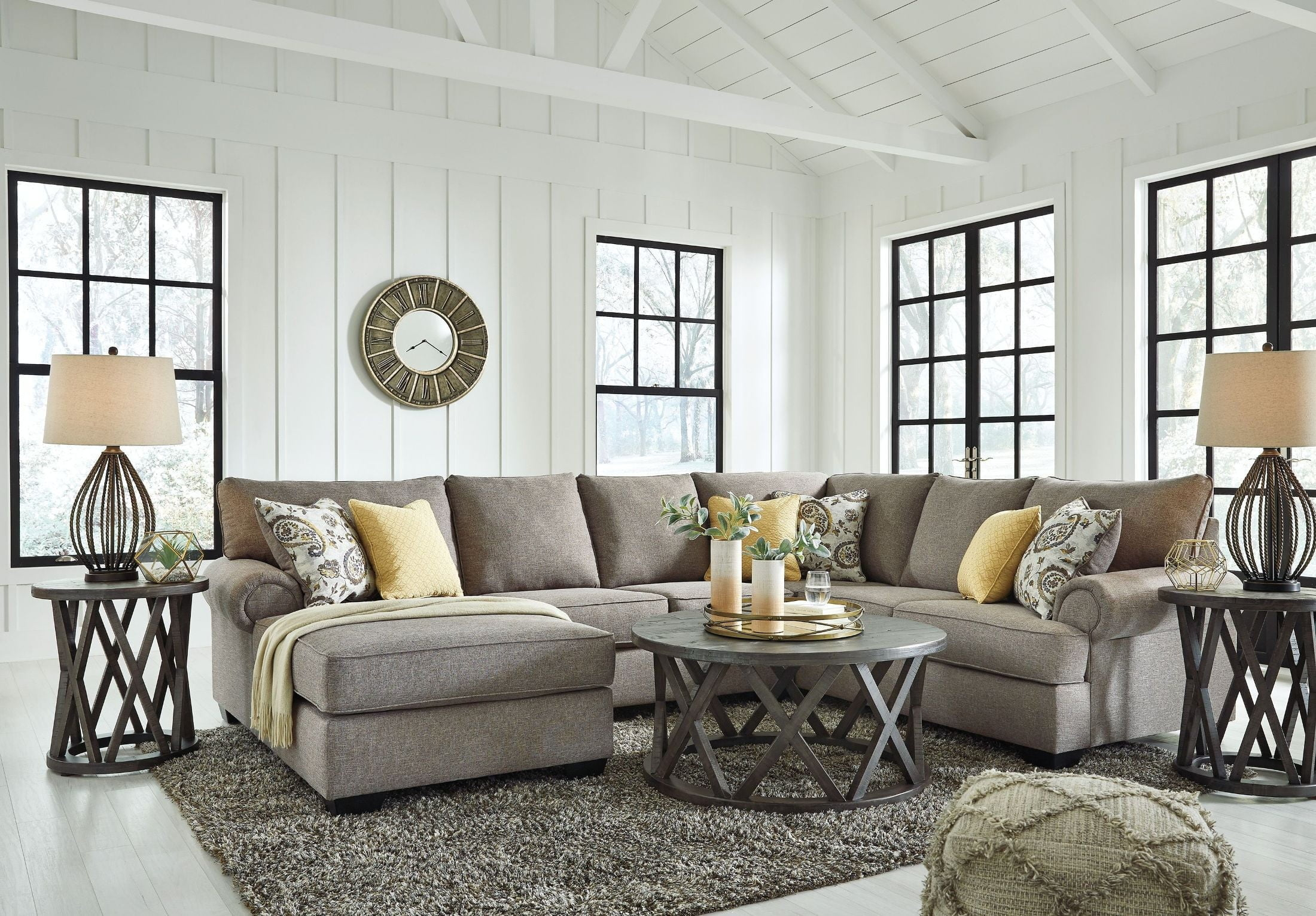 Renchen Pewter RAF Sectional from Ashley | Coleman Furniture