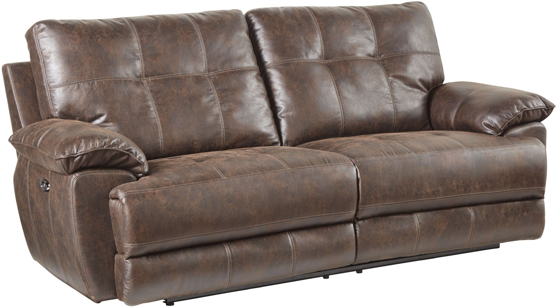 Hollister Brown Reclining Sofa From Standard Furniture Coleman  ~ Traditional Reclining Sofa