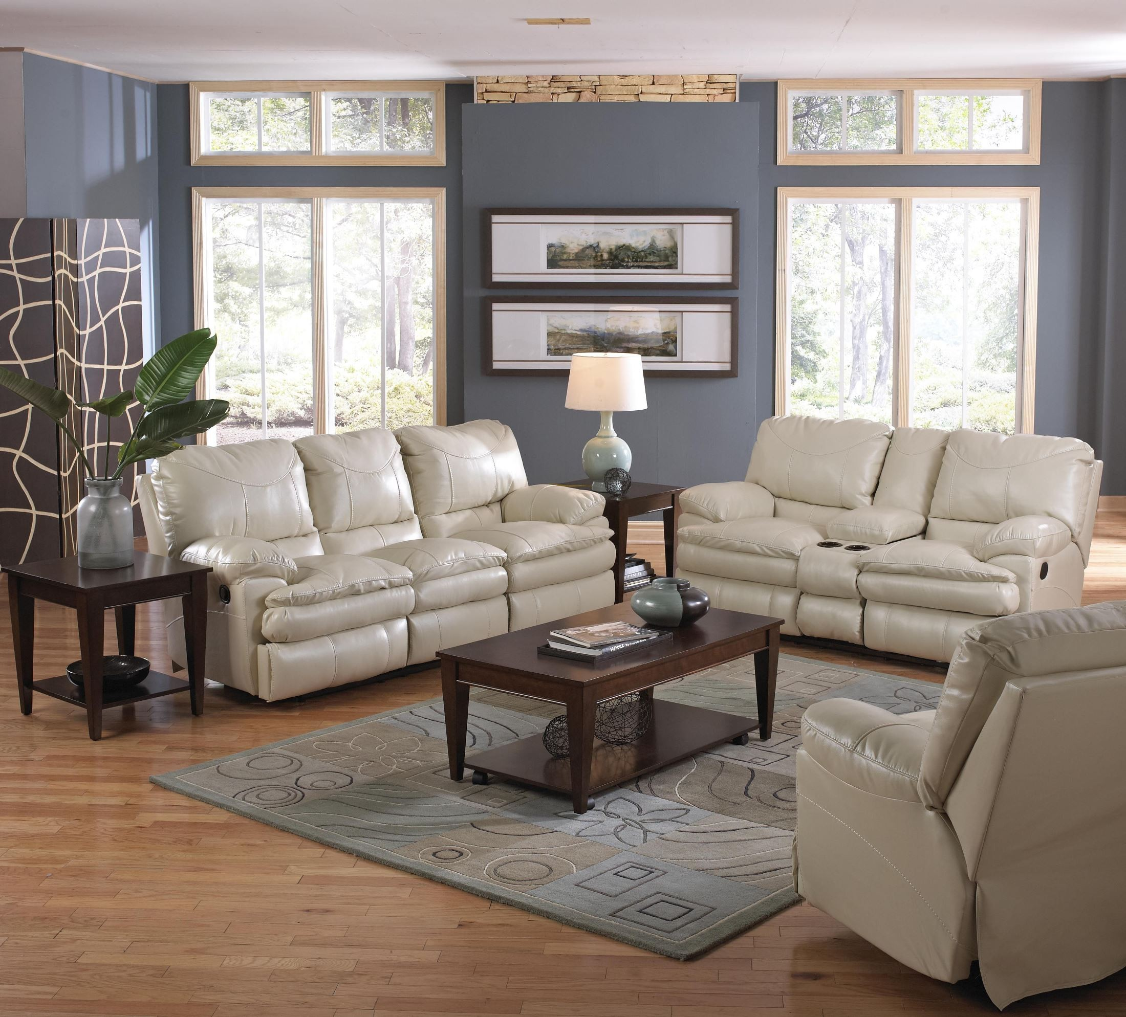 Perez Ice Reclining Loveseat With Console From Catnapper