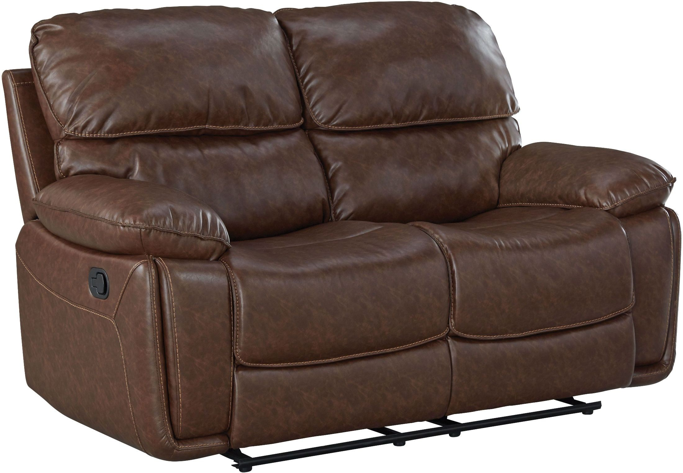 Colson Red Brown Reclining Loveseat From Standard Furniture Coleman Furniture