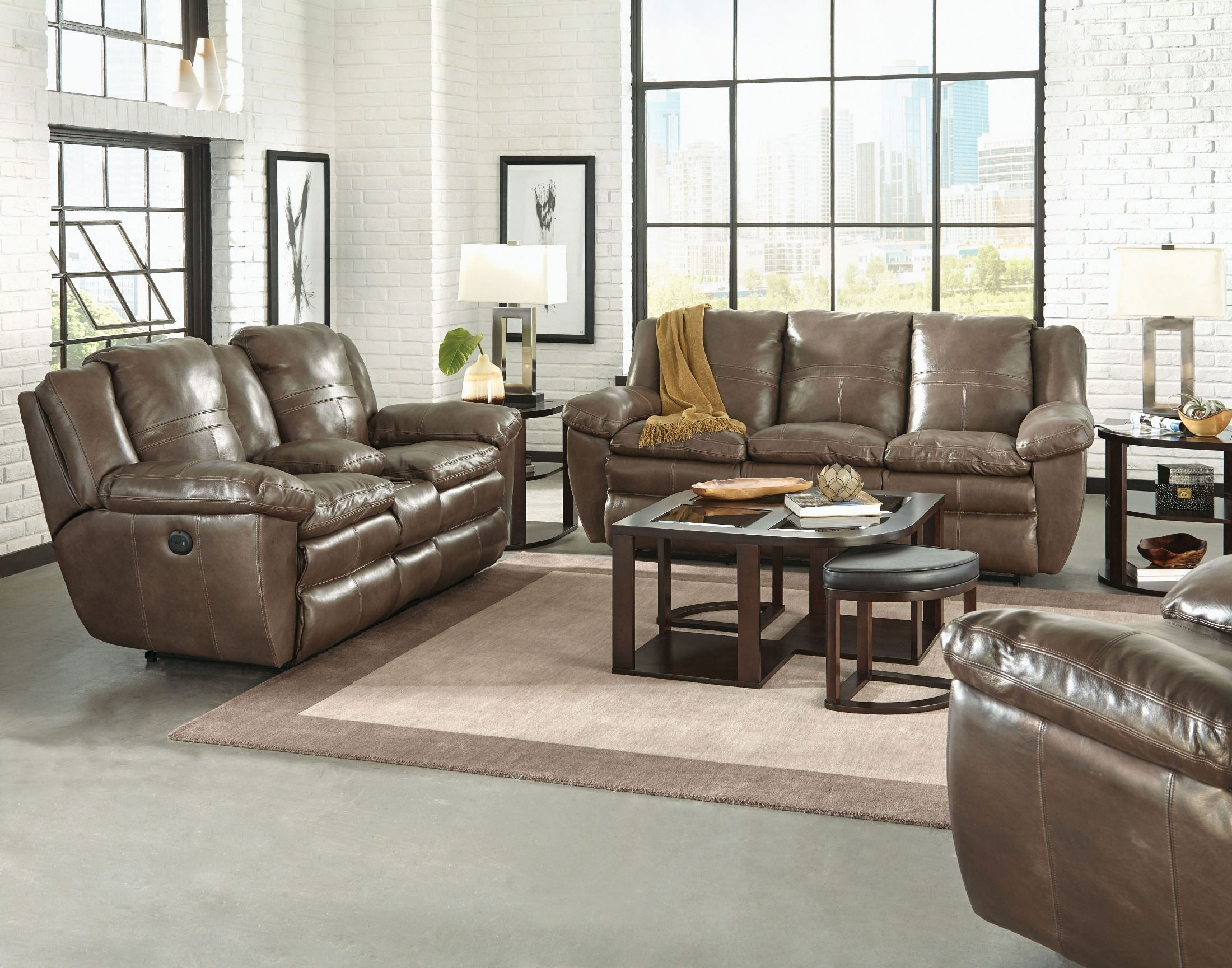 Aria smoke lay flat reclining sofa from catnapper for Flat furniture