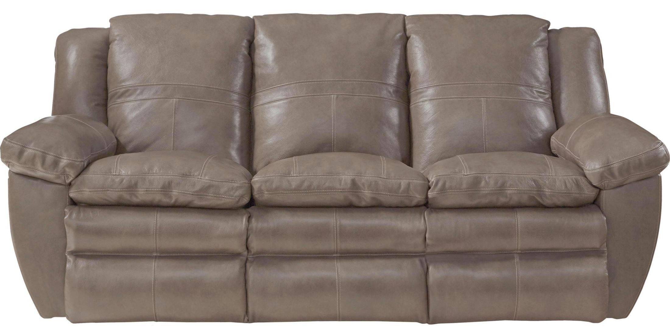 Aria smoke lay flat reclining sofa from catnapper for Catnapper cloud nine chaise recliner