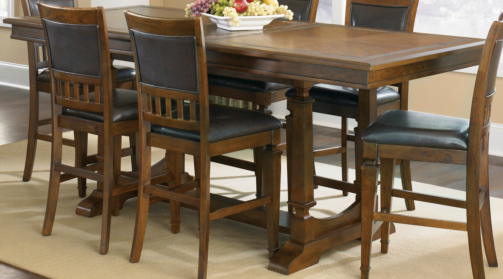Liberty Sante Fe Trestle Counter Height Table 420 Gt4084
