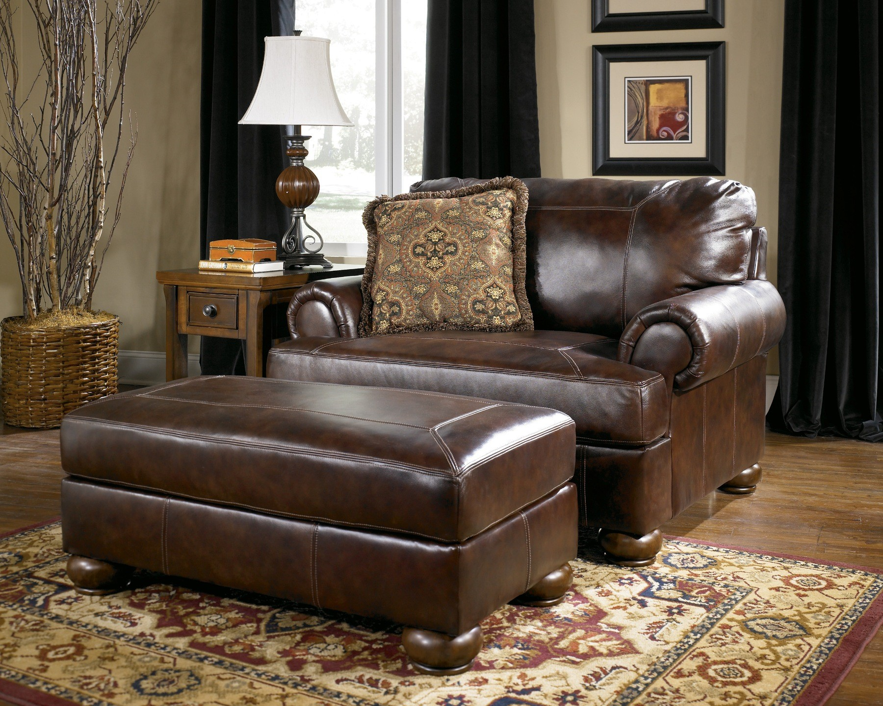 Axiom walnut living room set from ashley 42000 coleman furniture