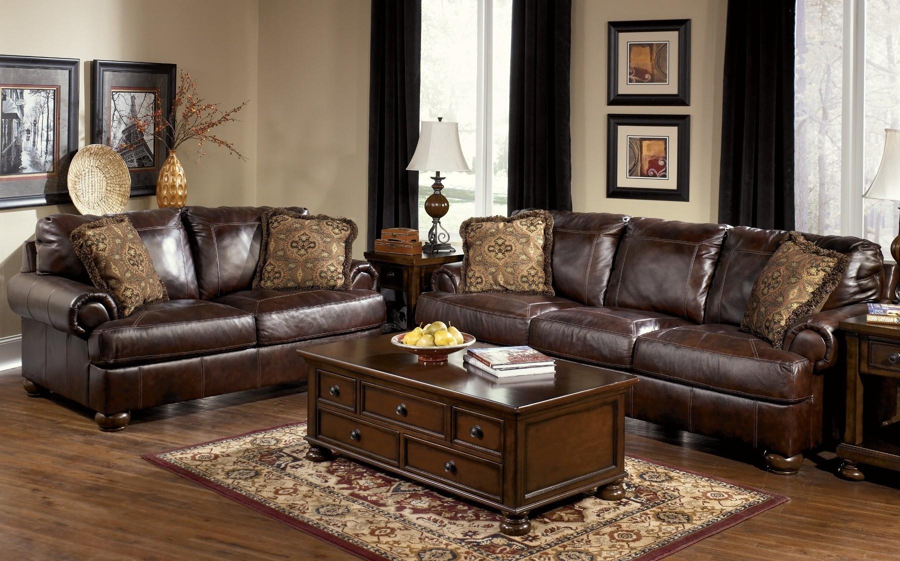 Axiom Walnut Living Room Set From Ashley 42000 Coleman