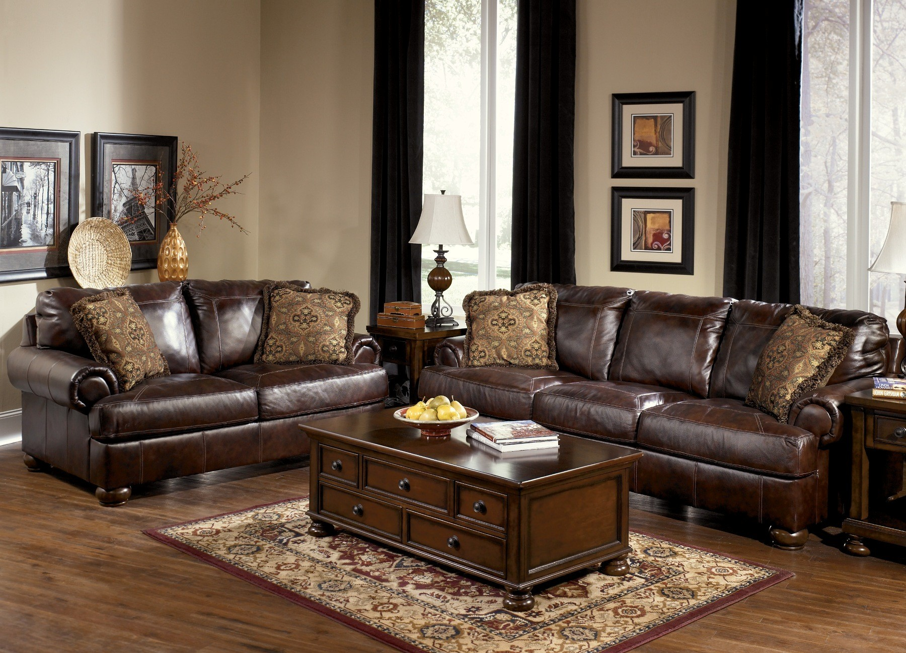 Incroyable Axiom Walnut Living Room Set From Millennium By Ashley. 2295635