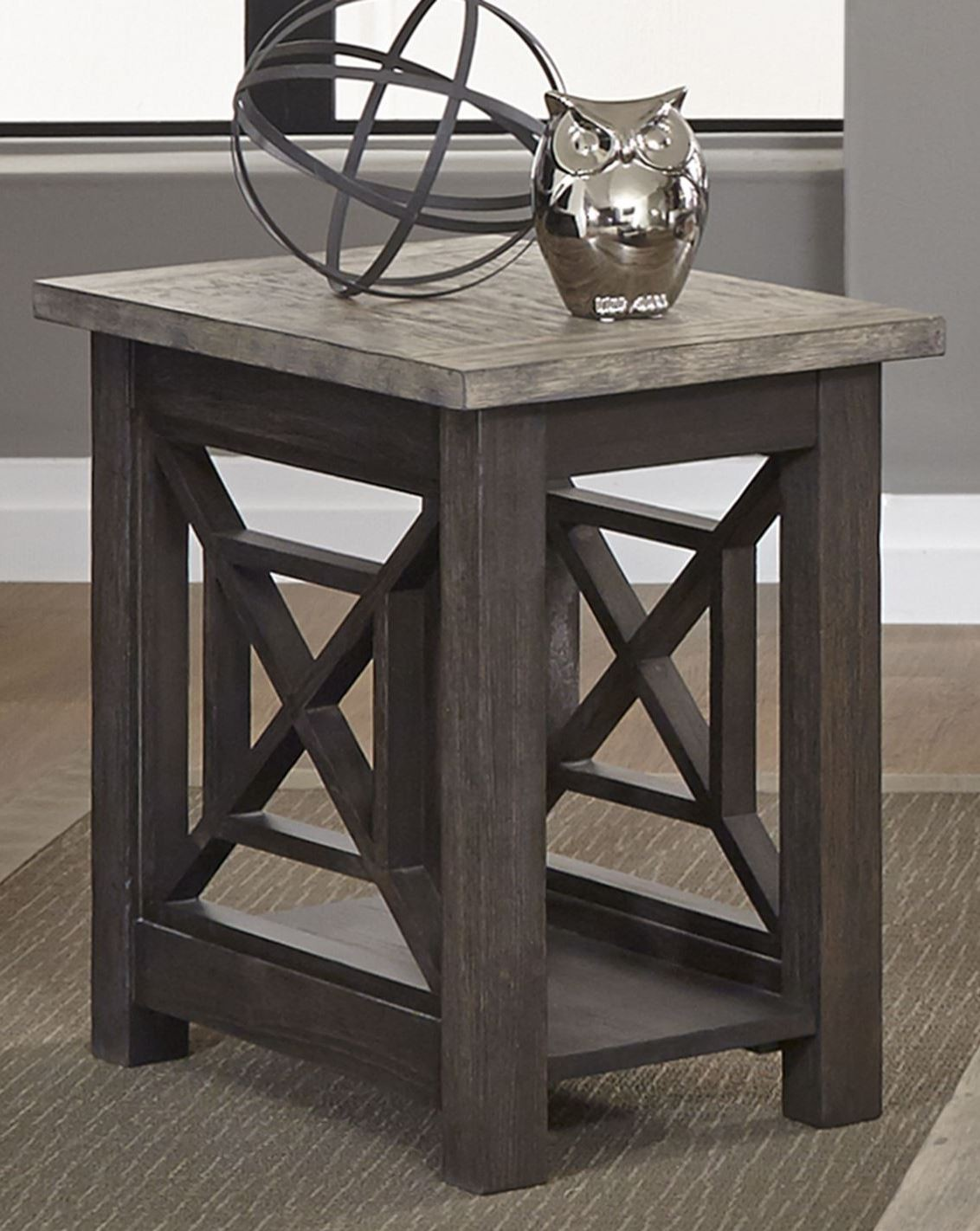 Heatherbrook Charcoal Chair Side Table From Liberty 422