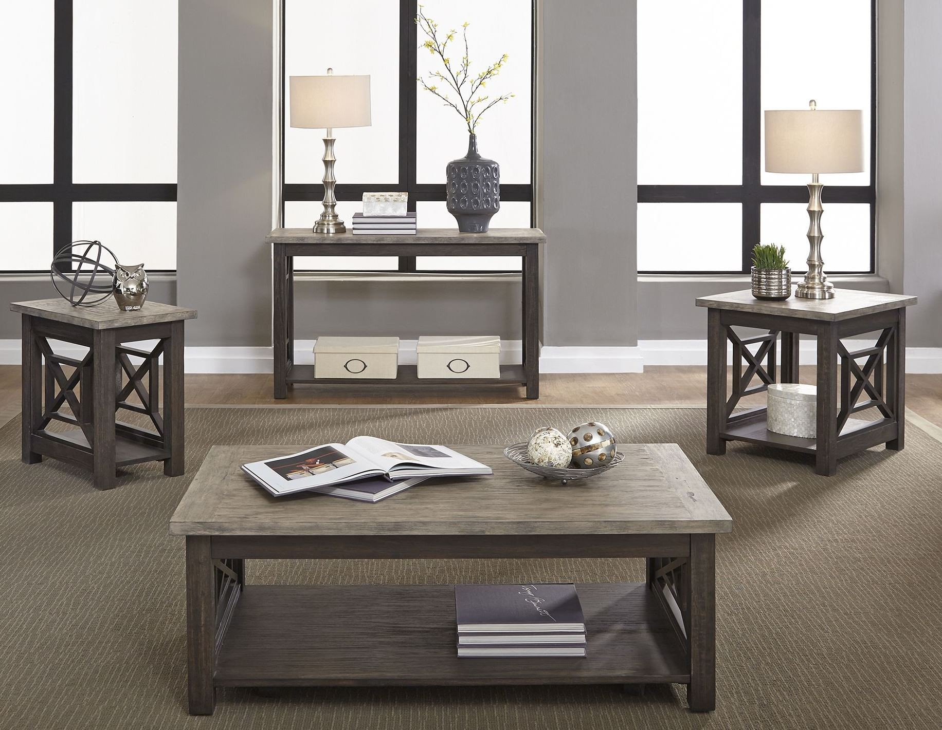 Heatherbrook Charcoal Occasional Table Set from Liberty (422-OT1010 ...