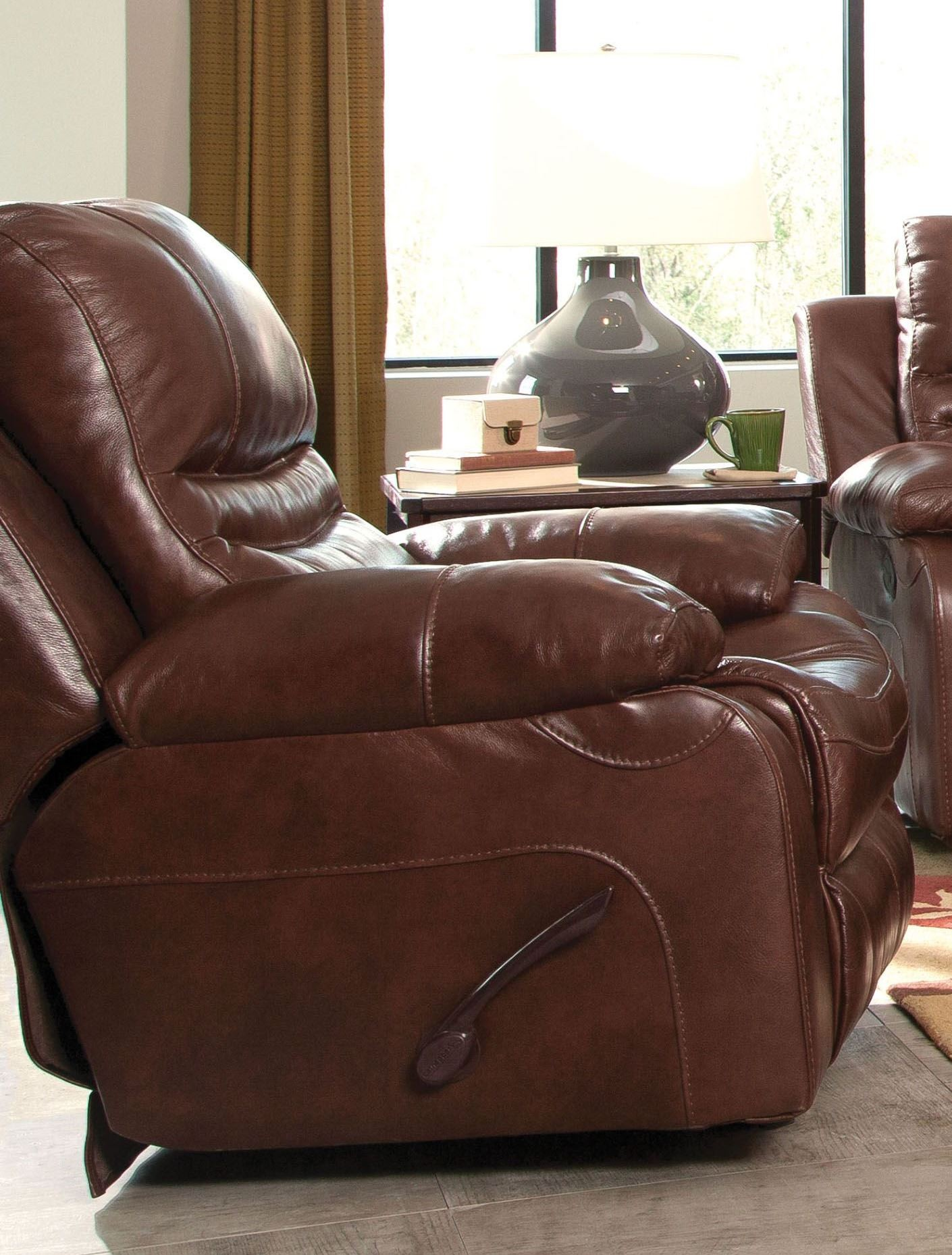 Patton walnut power lay flat recliner from catnapper for Catnapper cloud nine chaise recliner