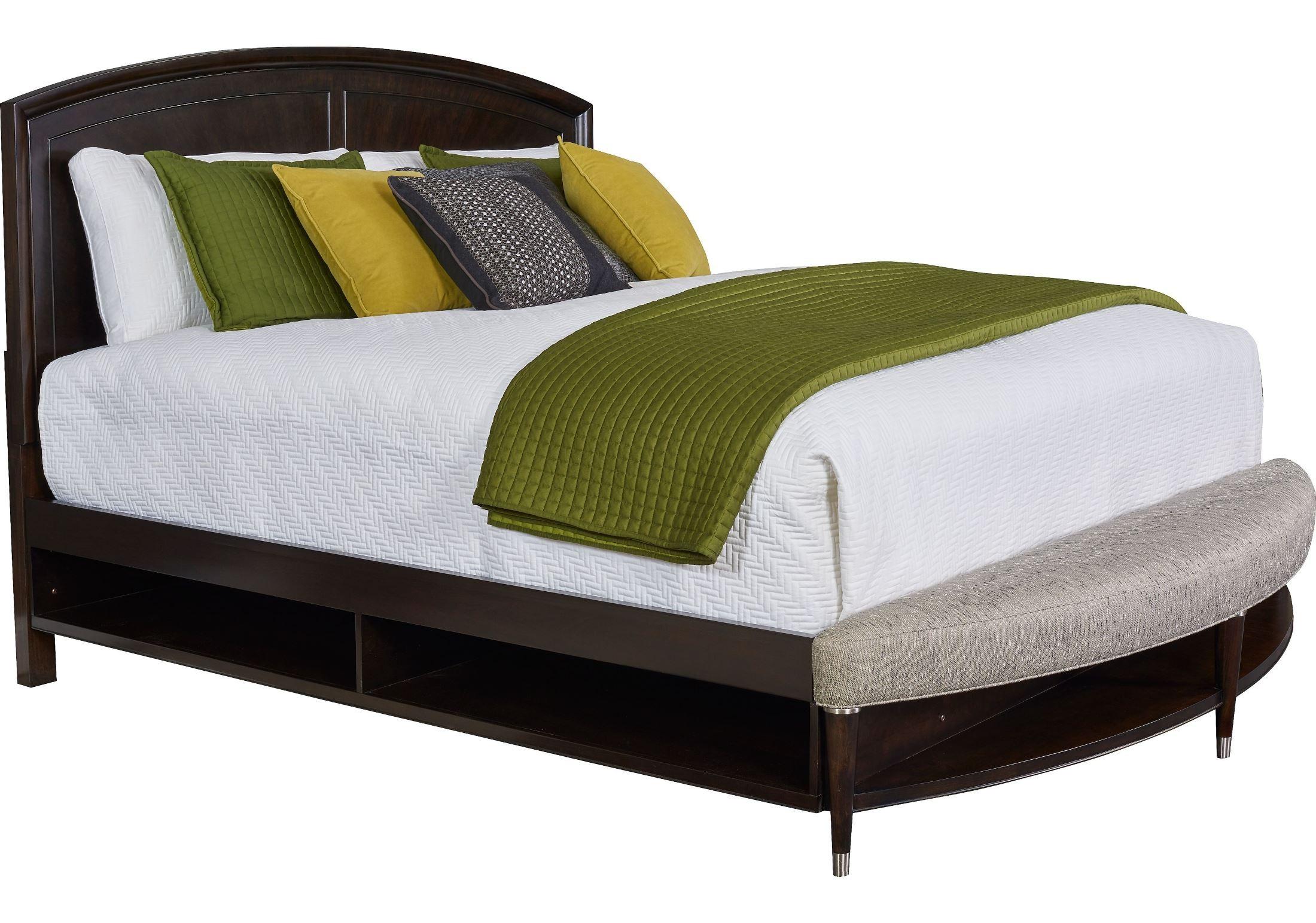 Vibe Merlot King Radius Bench Panel Storage Bed From