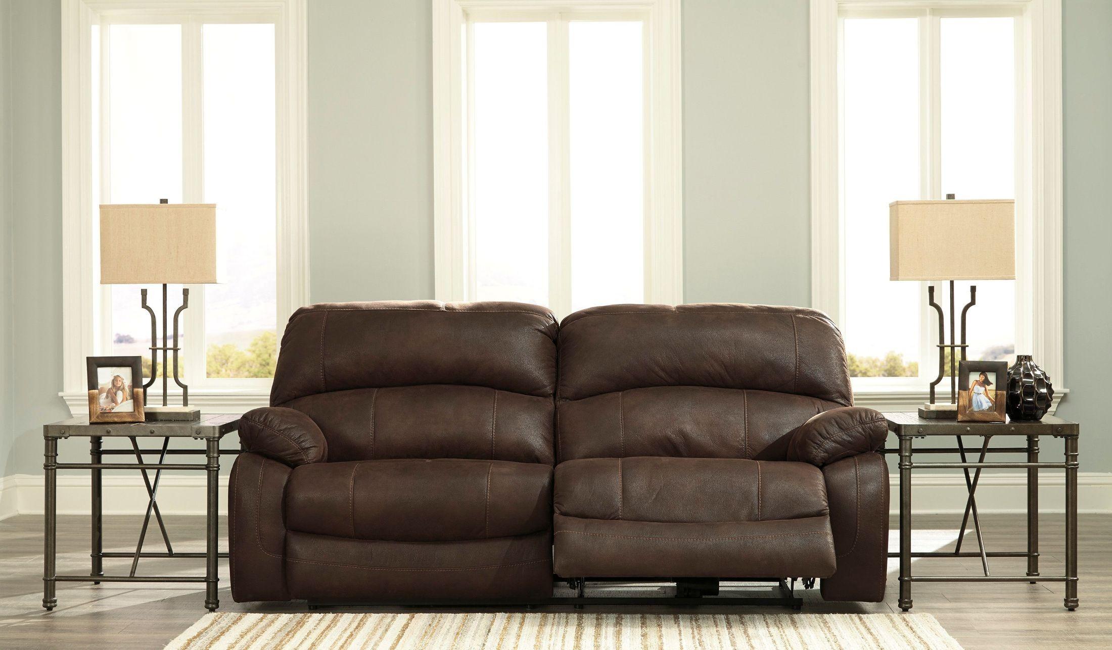 Zavier Truffle 2 Seat Power Reclining Sofa From Ashley