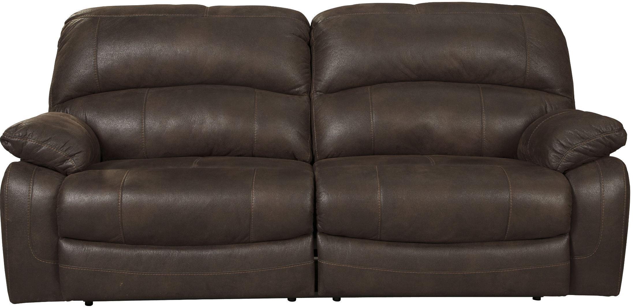 Zavier Truffle 2 Seat Power Reclining Sofa From Ashley 4290147  ~ Two Cushion Reclining Sofa