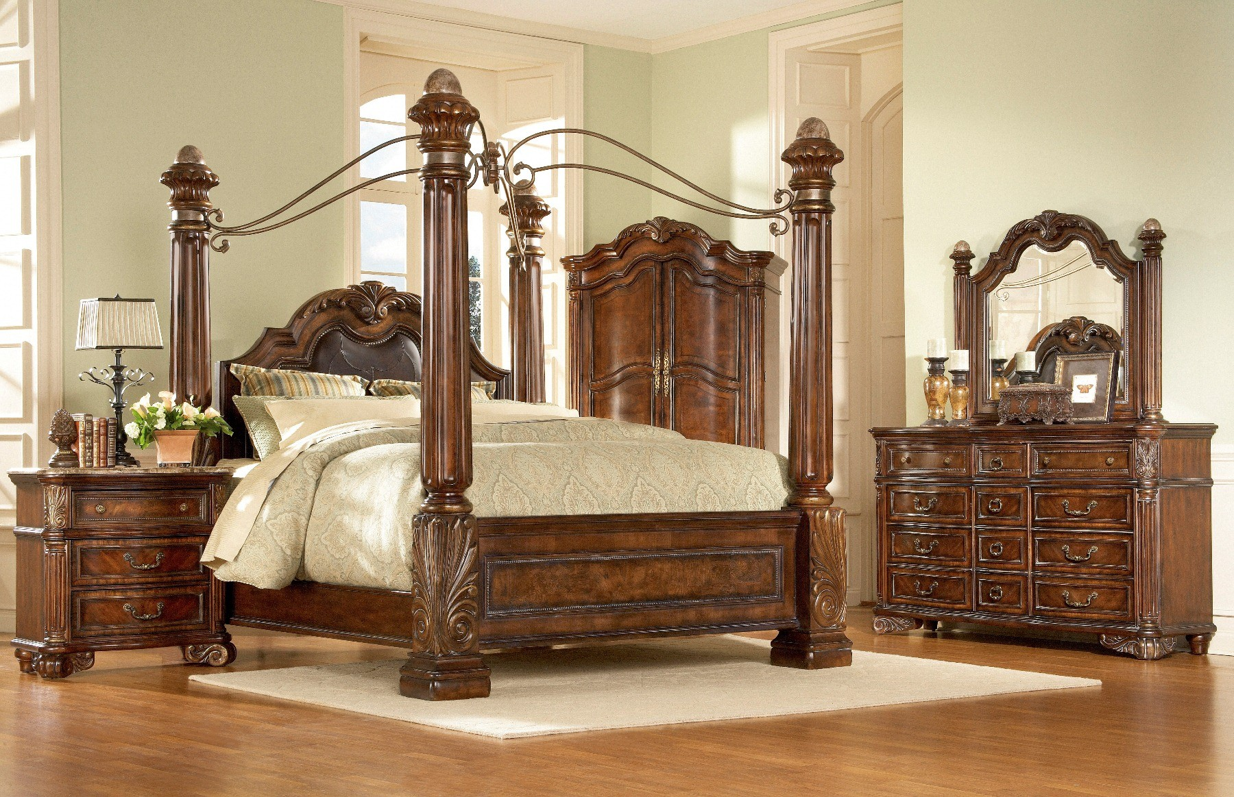 Regal king poster bed from art furniture 142157 2606 - King size bedroom sets for sale by owner ...