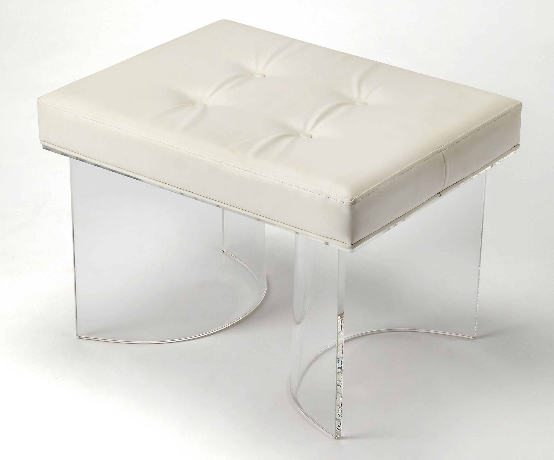 Ellipse White Vanity Stool From Butler Coleman Furniture