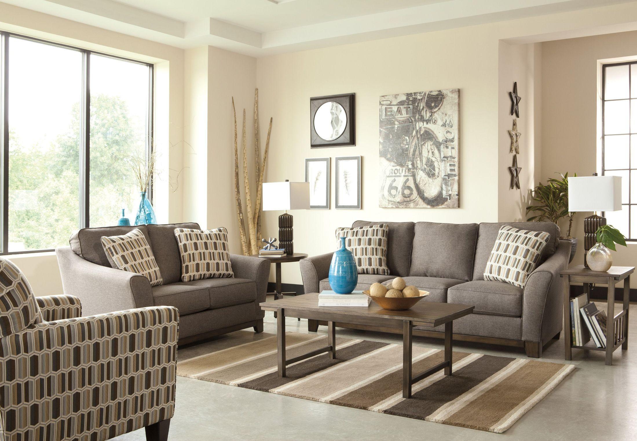 Janley slate living room set from ashley 43804 38 35 for Front room sets
