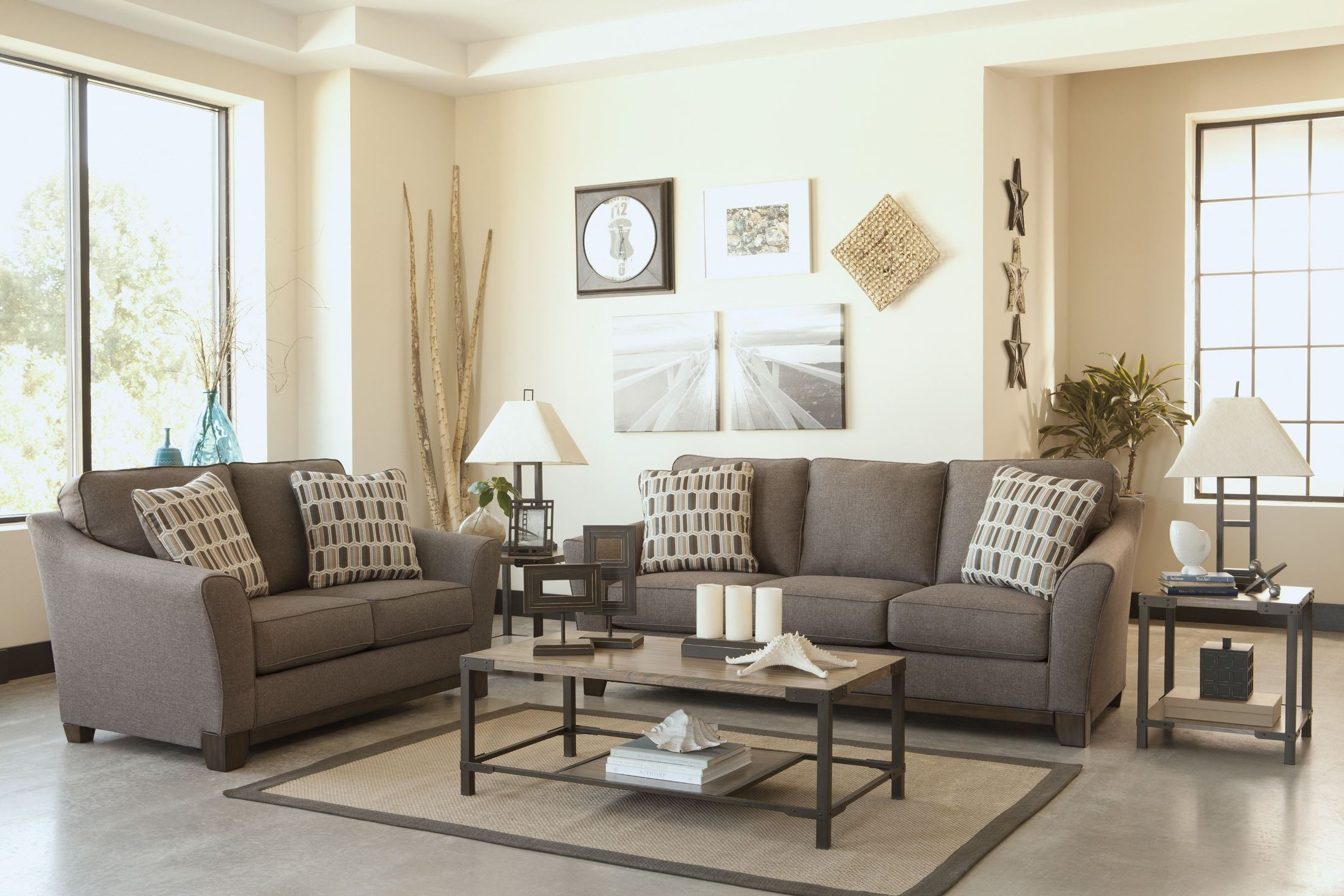 Janley Slate Living Room Set From Ashley 43804 38 35