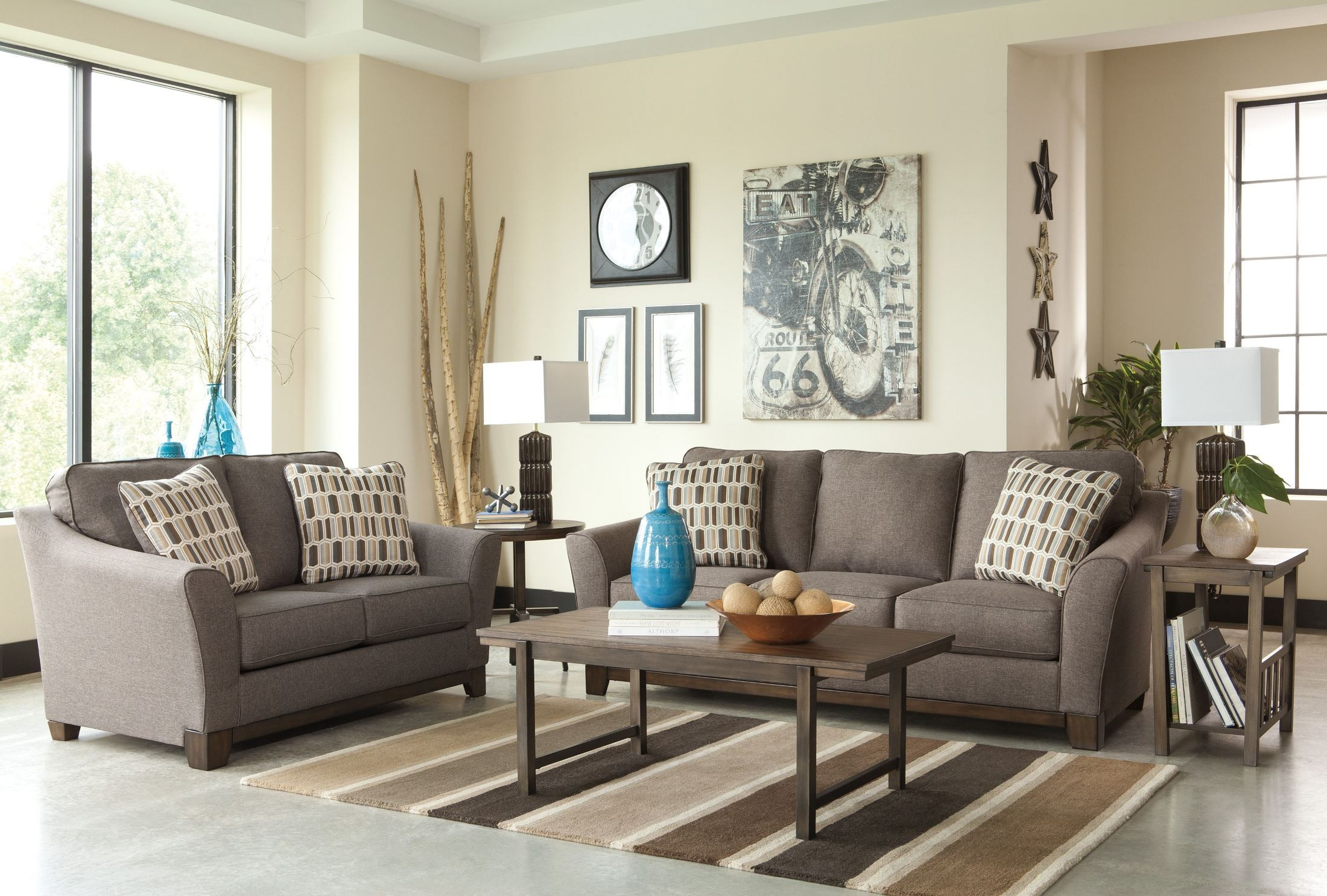 Janley Slate Living Room Set from Ashley 38 35