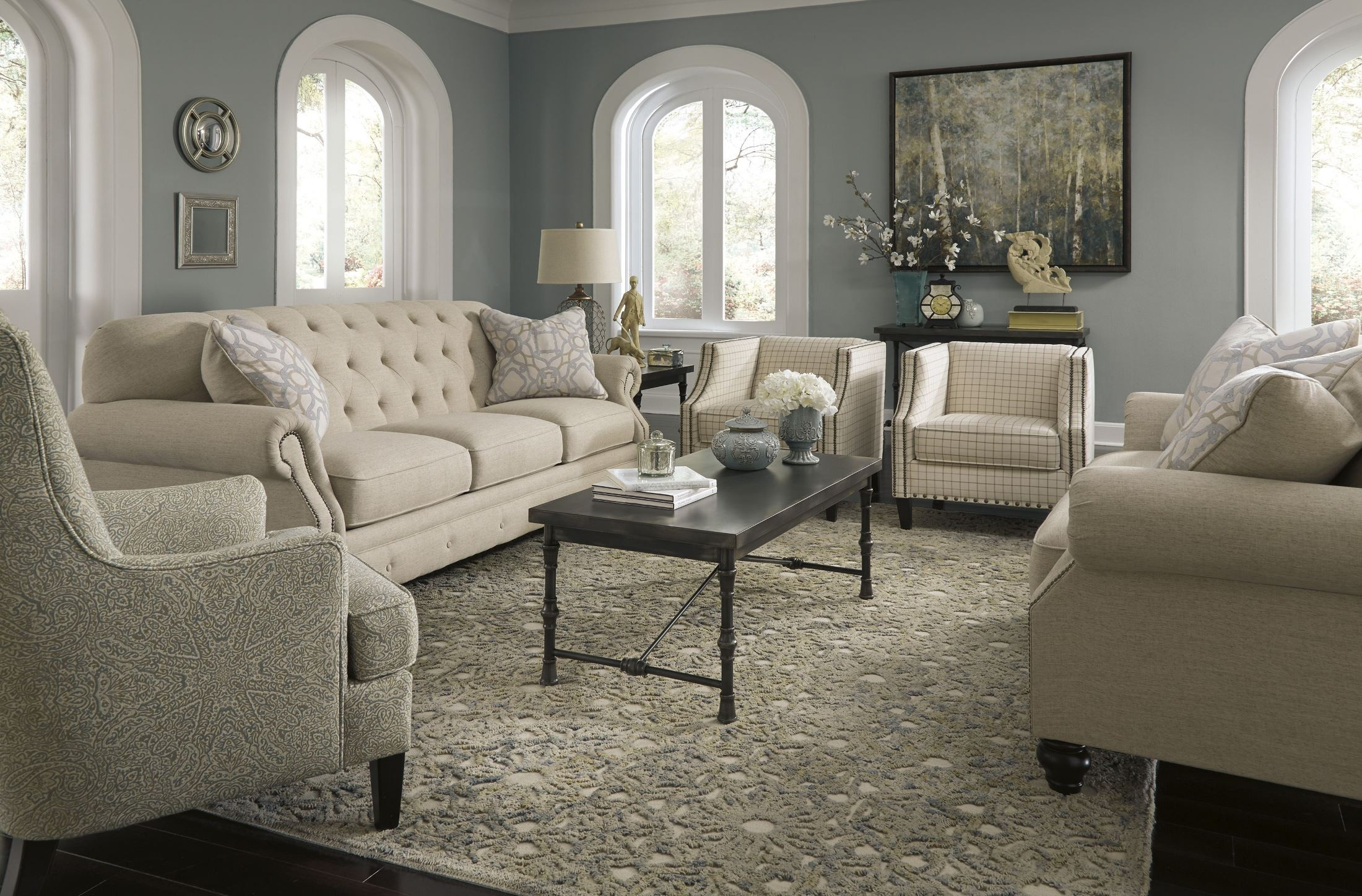 Kieran natural living room set from ashley 4400038 for 2 sofa living room ideas