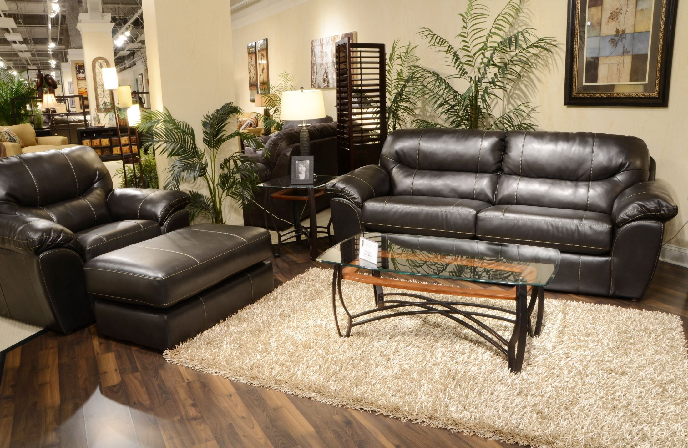 Brantley steel living room set from jackson for Metal living room chairs