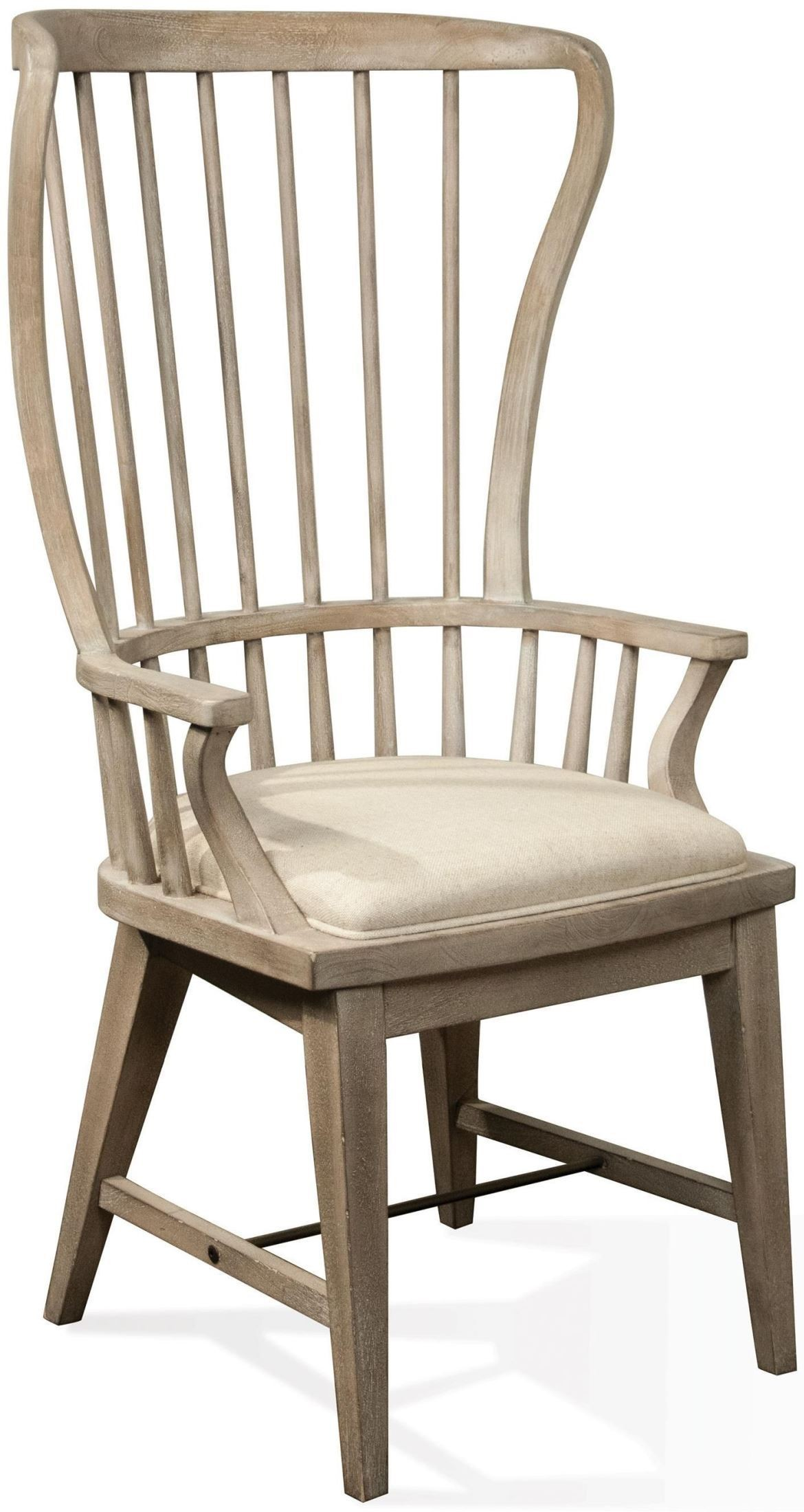 Juniper Natural Upholstered Windsor Host Chair From Riverside Furniture |  Coleman Furniture