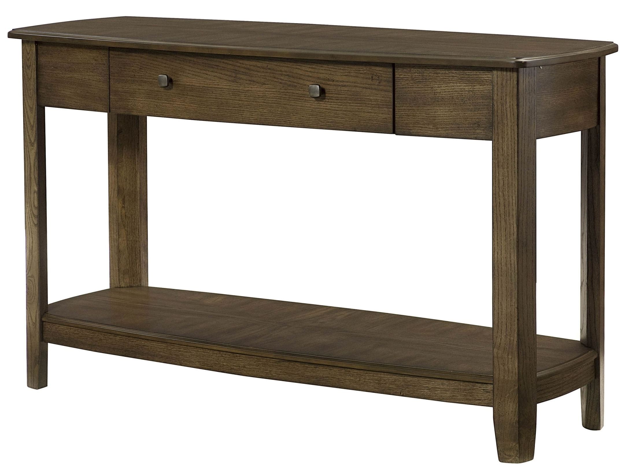 Primo warm medium brown sofa table from hammary 446 925 for 5 sofa table