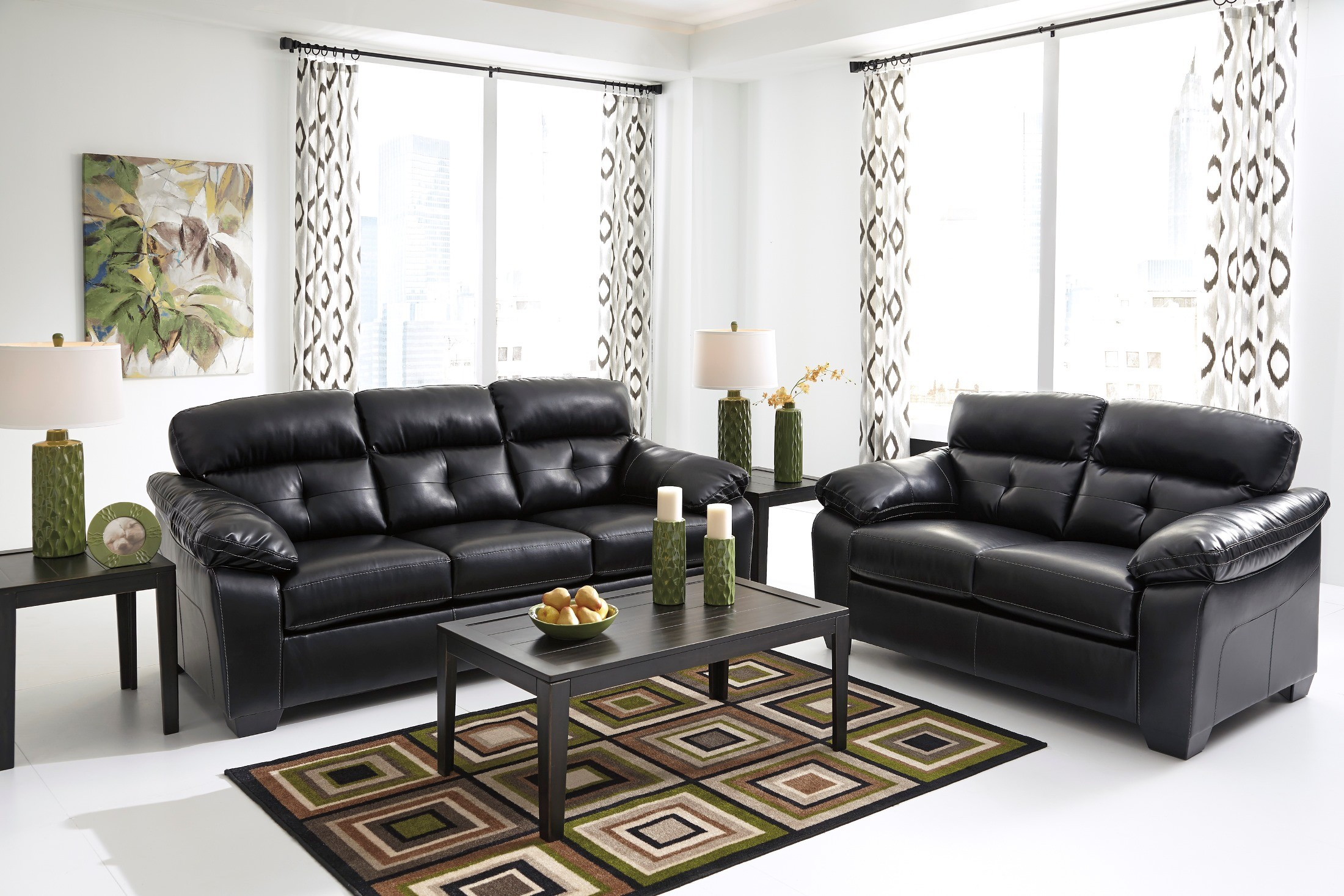 Bastrop Durablend Midnight Living Room Set from Ashley (44601-38-35 ...