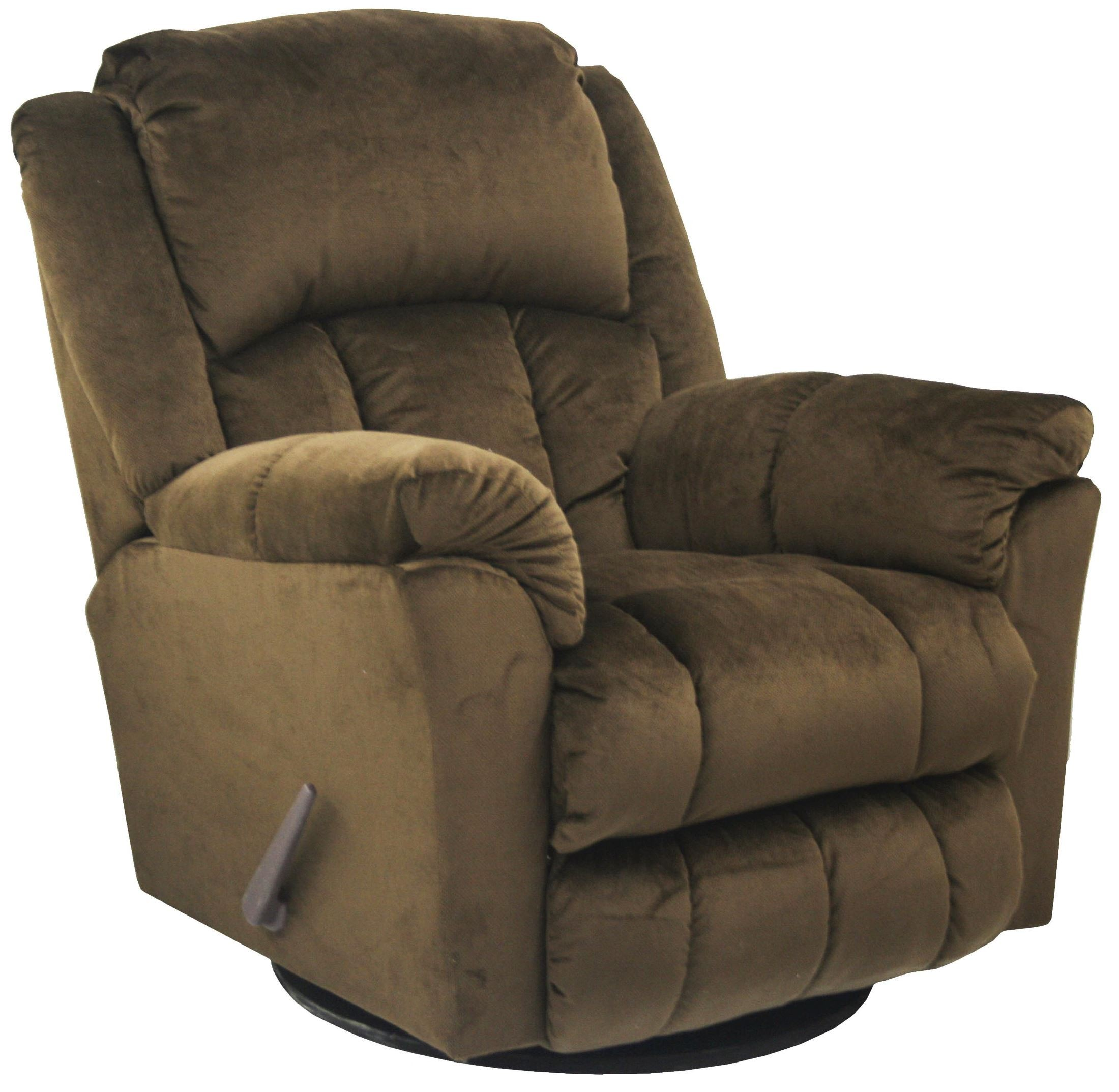 Gibson walnut swivel glider recliner from catnapper for Catnapper cloud nine chaise recliner