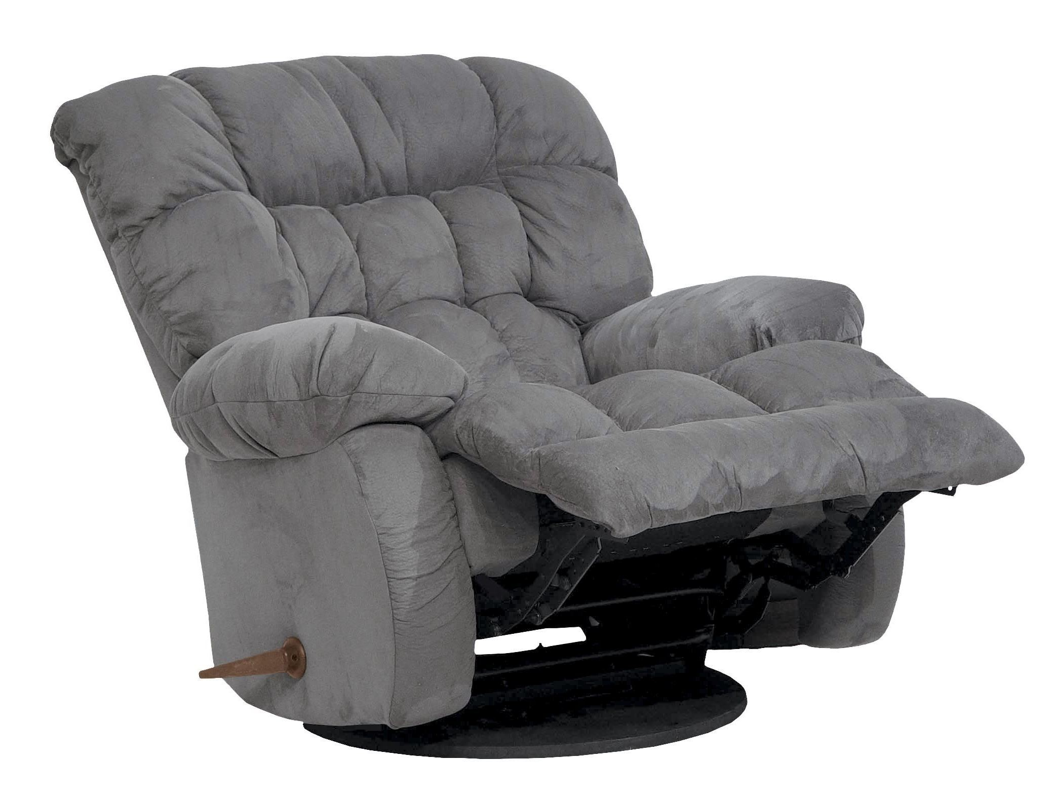 Teddy bear graphite inch away recliner from catnapper for Catnapper cloud nine chaise recliner
