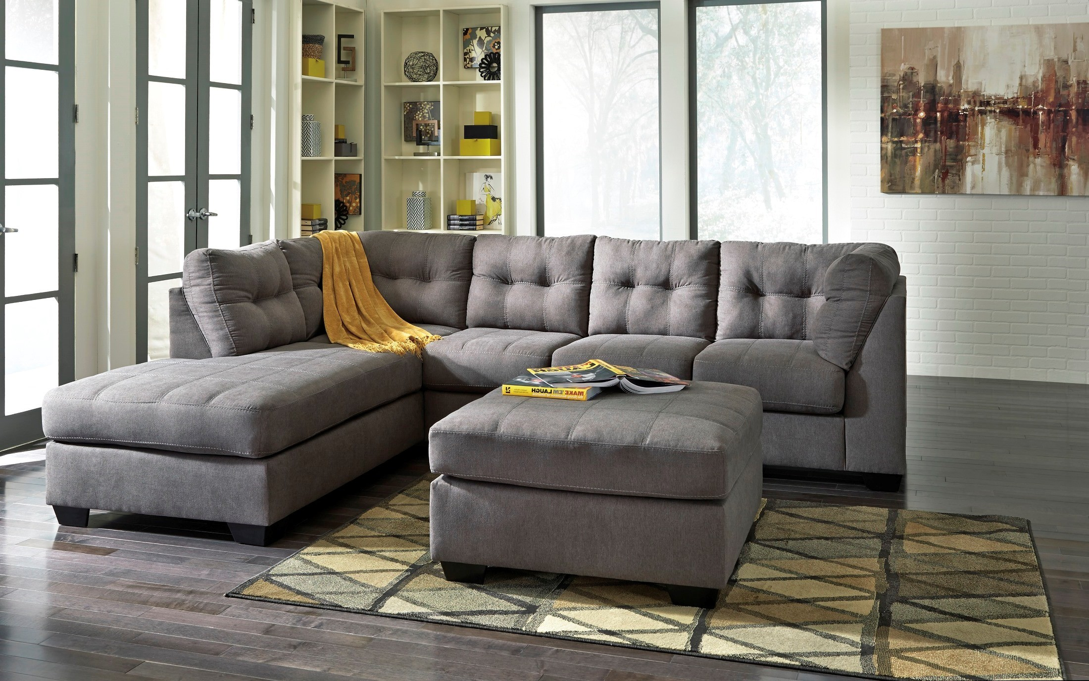 Maier Charcoal LAF Sectional from Ashley 16 67