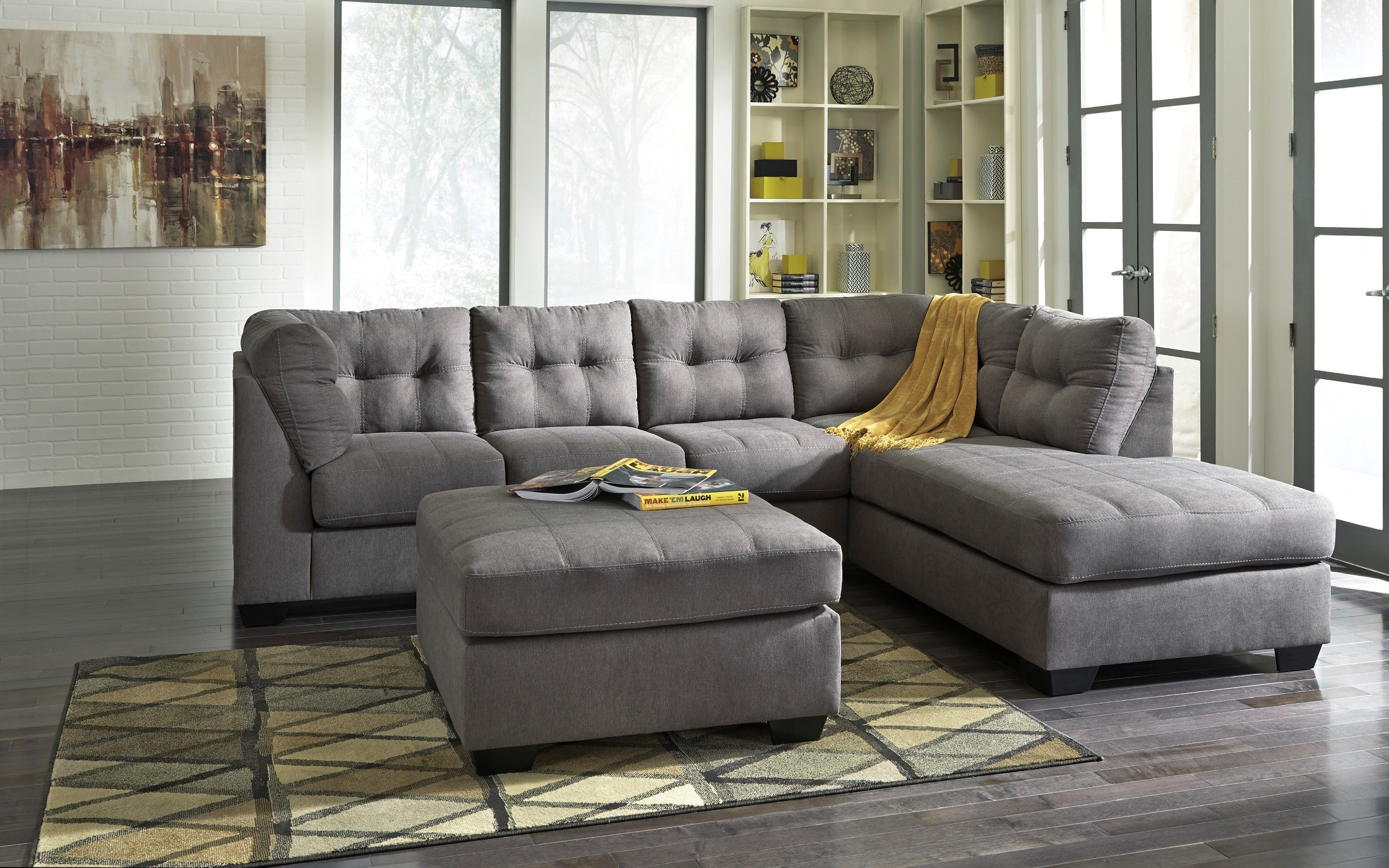 Maier Charcoal RAF Sectional from Ashley 17 66