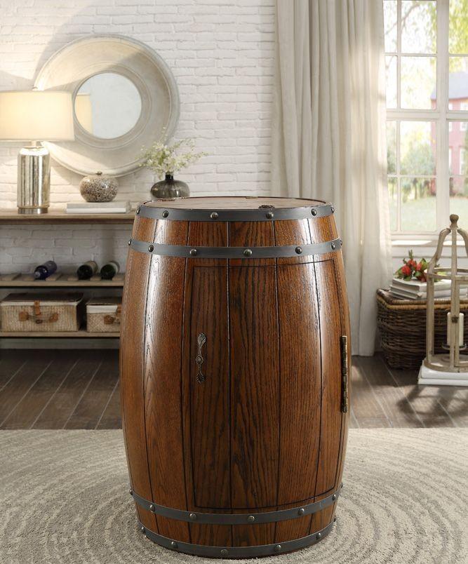 Cabernet Dark Oak Wine Barrel Refrigerator From