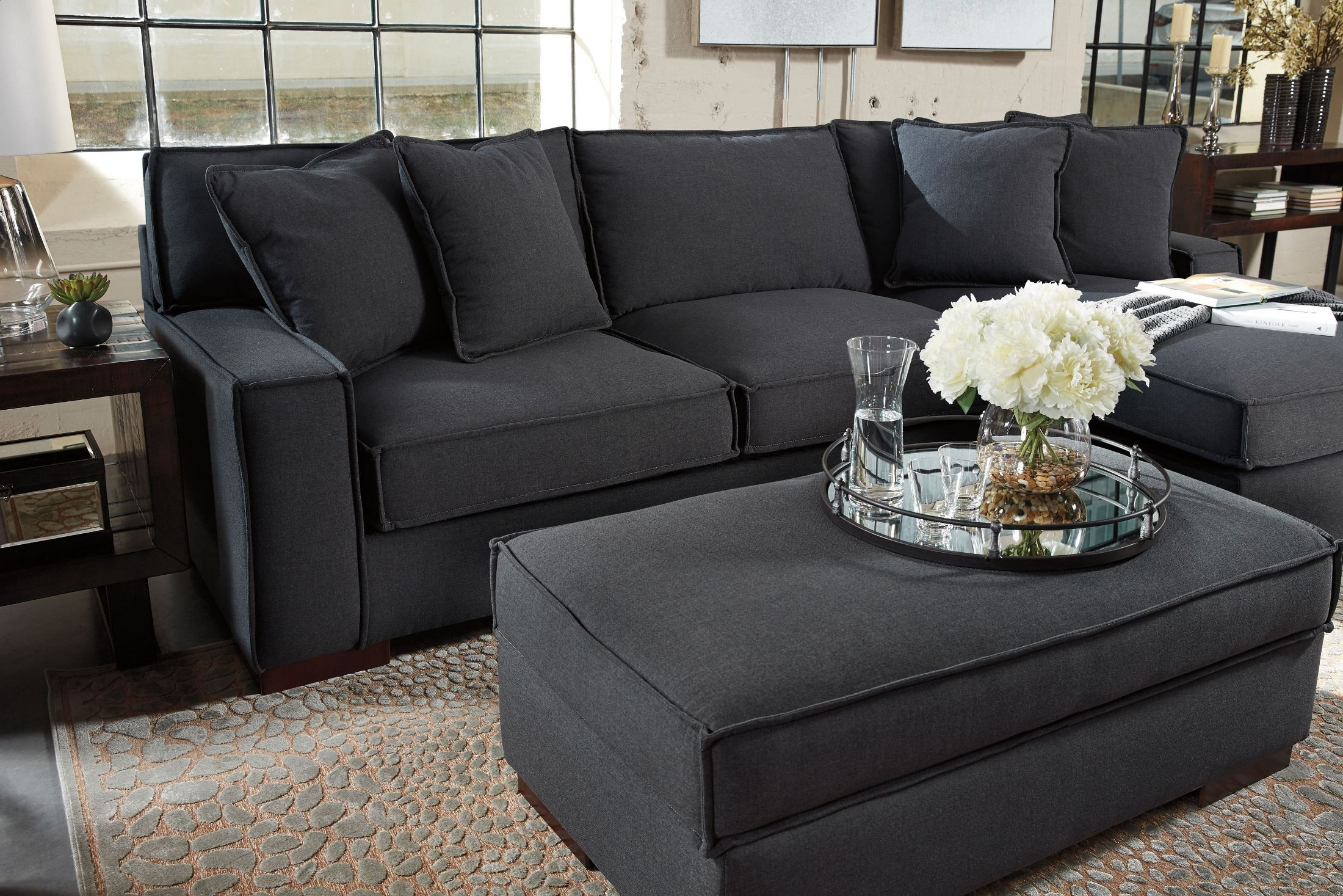 Gamaliel Charcoal Ottoman With Storage From Ashley
