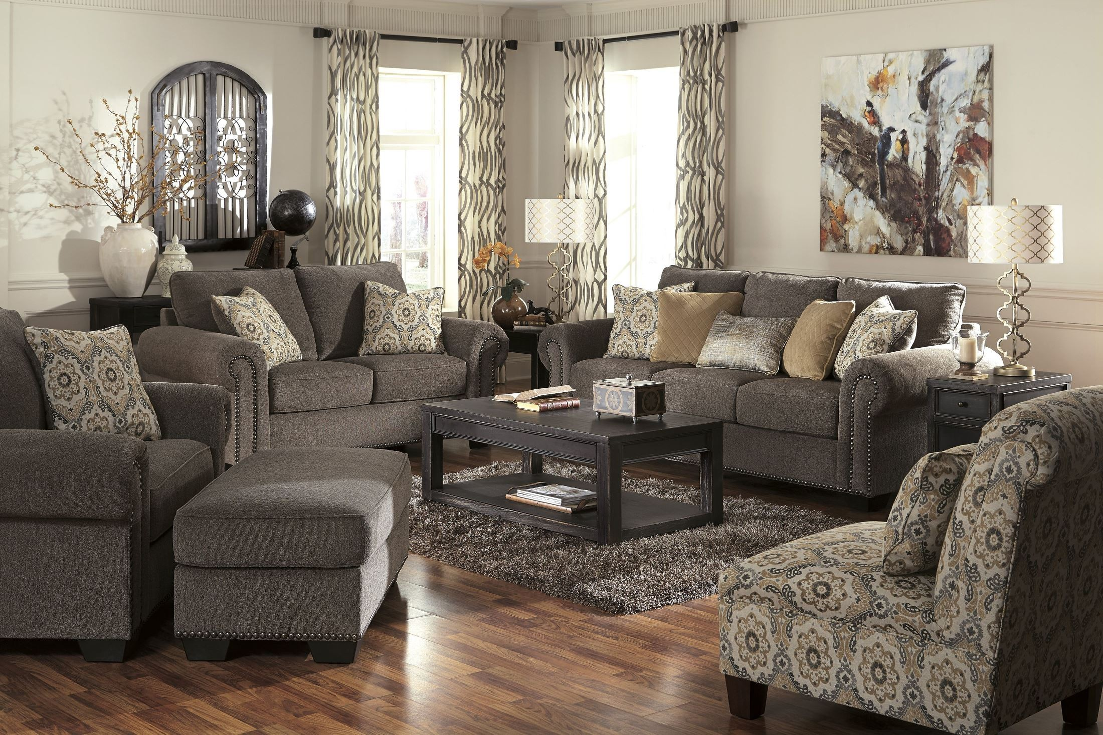 emelen alloy living room set from ashley 45600 35 38 coleman furniture. Black Bedroom Furniture Sets. Home Design Ideas