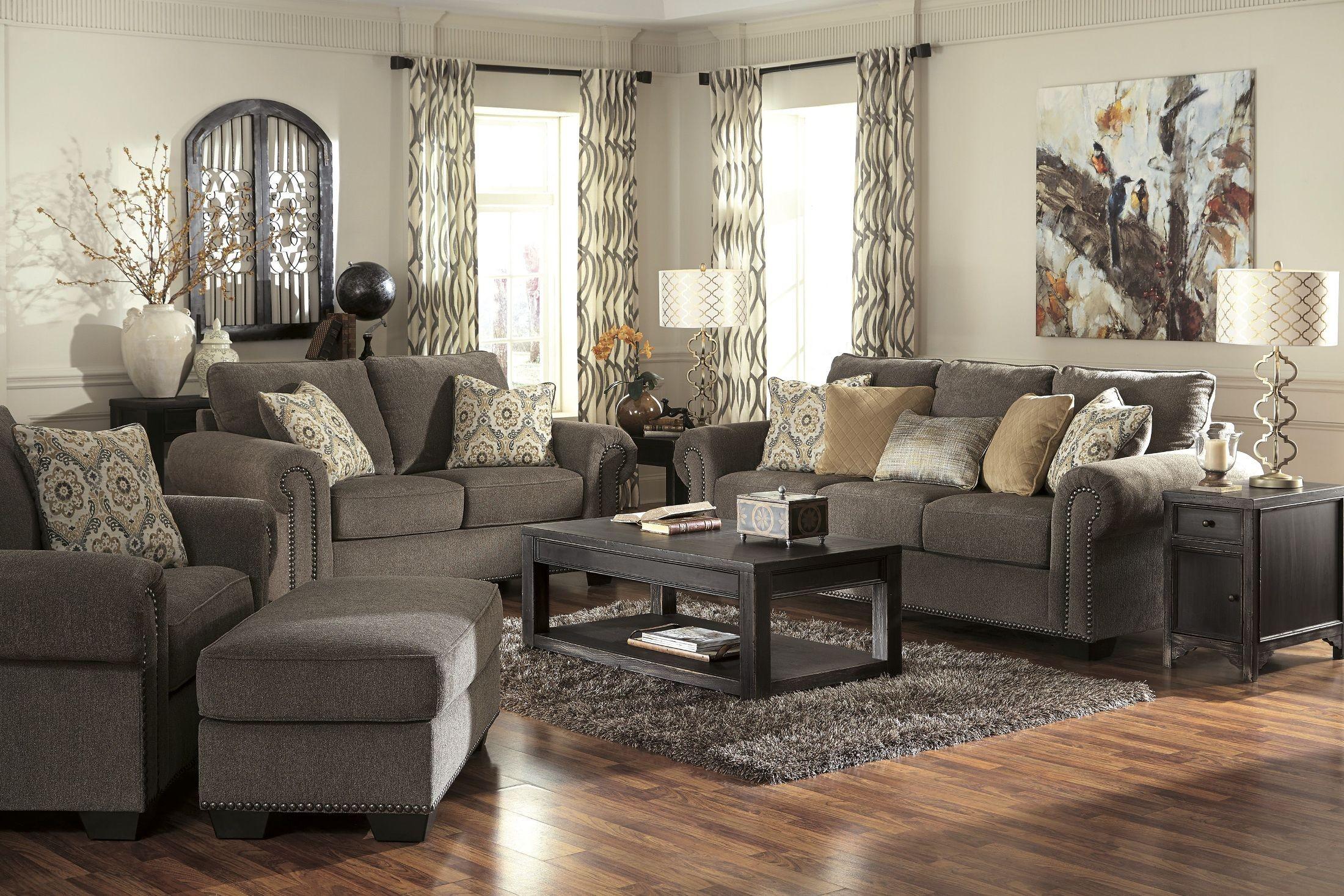 Emelen Alloy Living Room Set From Ashley 45600 35 38